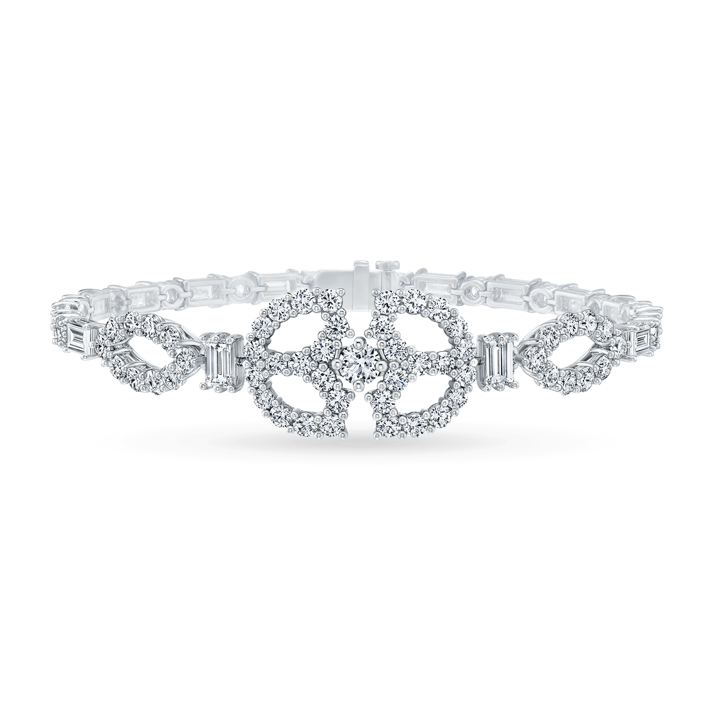Art Deco Diamond Single Motif Bracelet, Product Image 1
