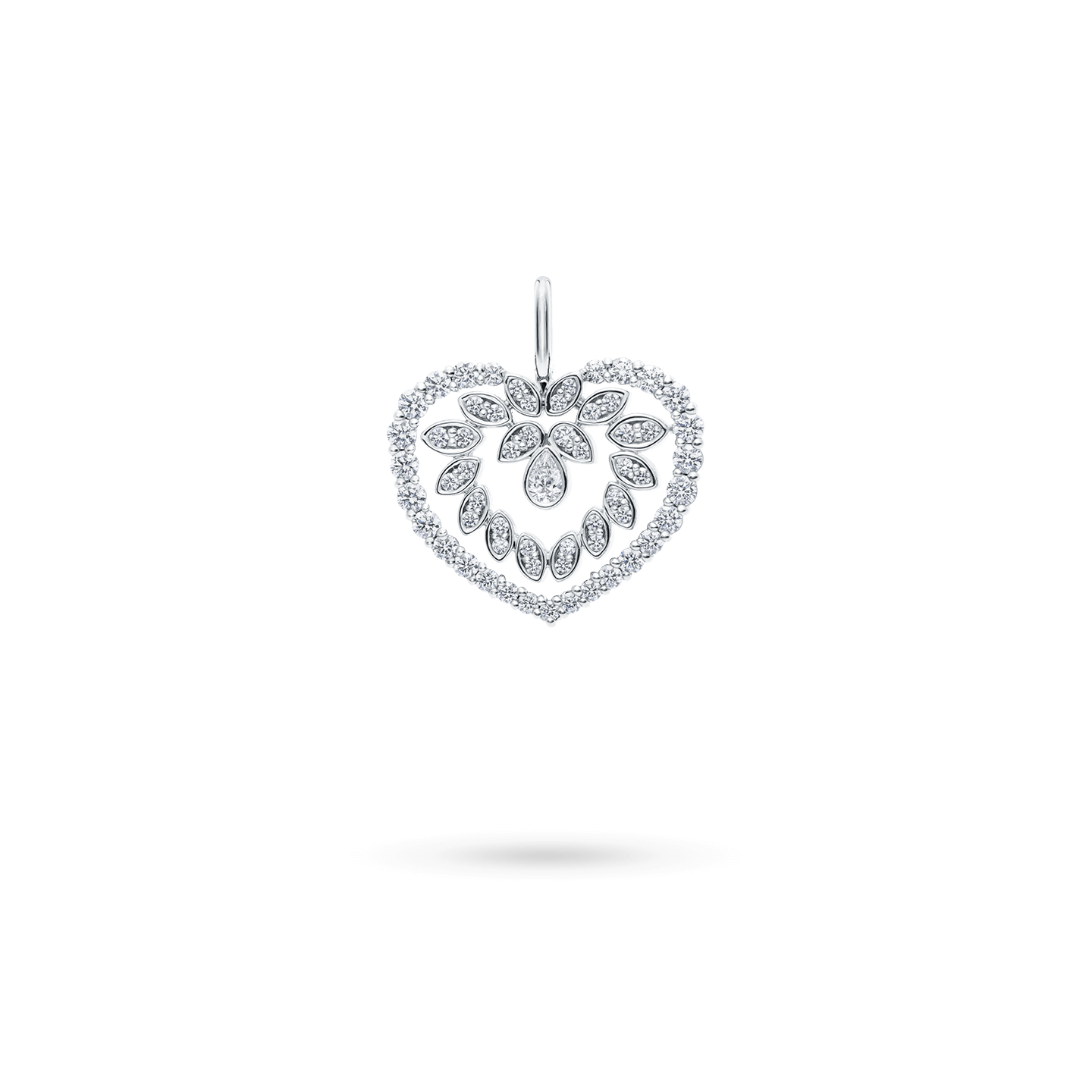 Diamond Cluster HeartCharm, Product Image 1