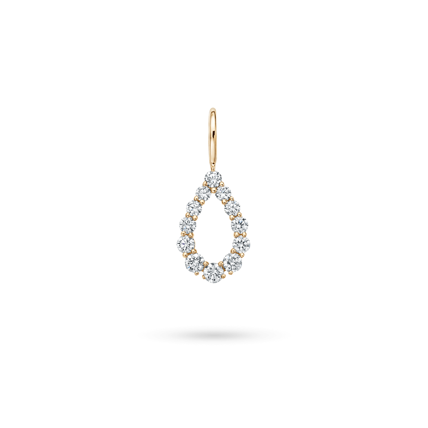 Diamond Loop Charm in Yellow Gold, Product Image 1