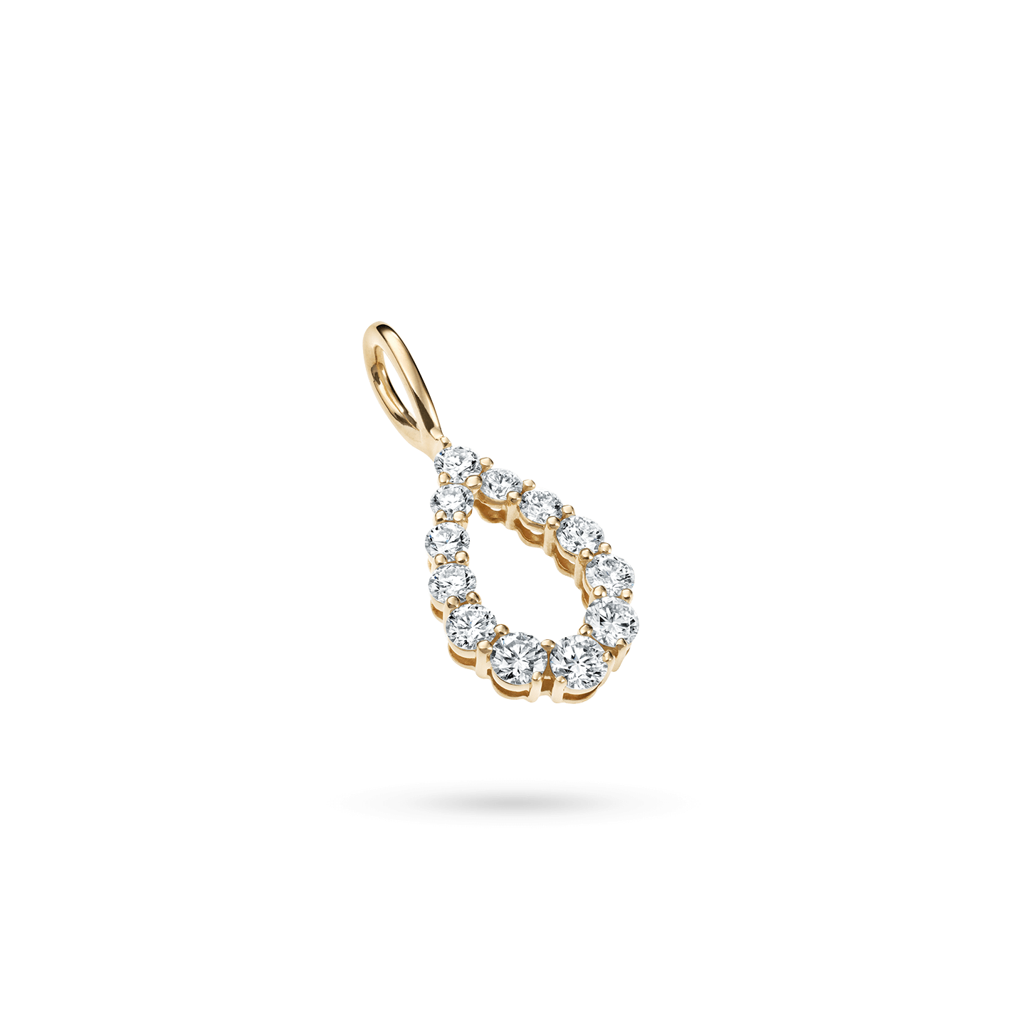 Diamond Loop Charm in Yellow Gold, Product Image 2