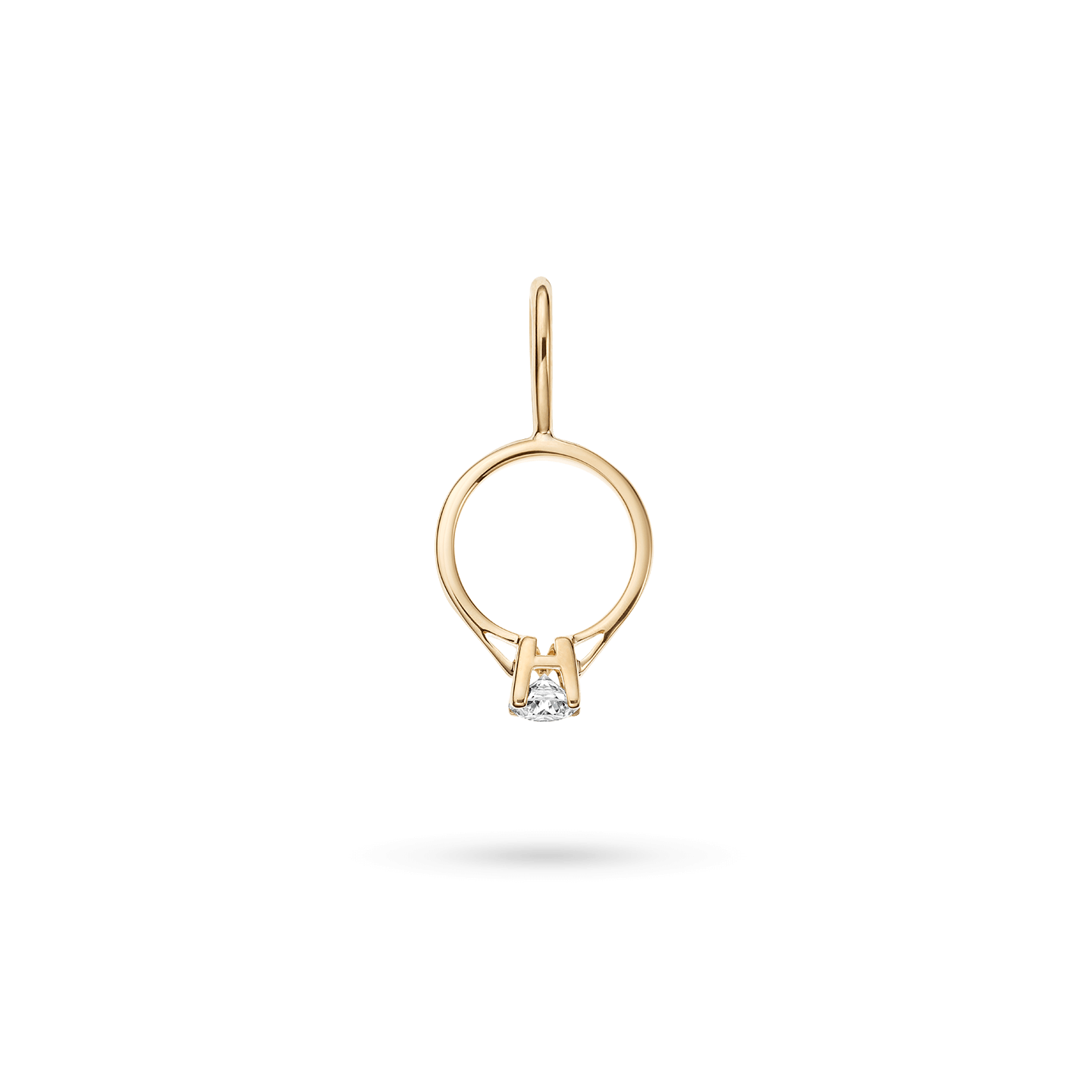 Engagement Ring Charm in Yellow Gold, Product Image 1