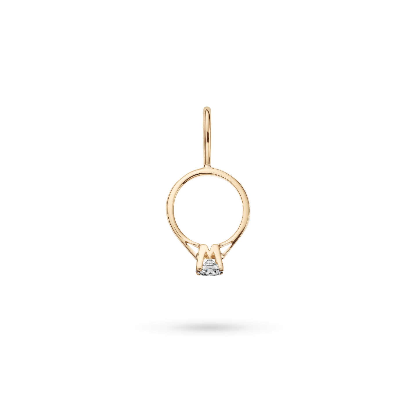 Engagement Ring Charm in Yellow Gold, Product Image 2