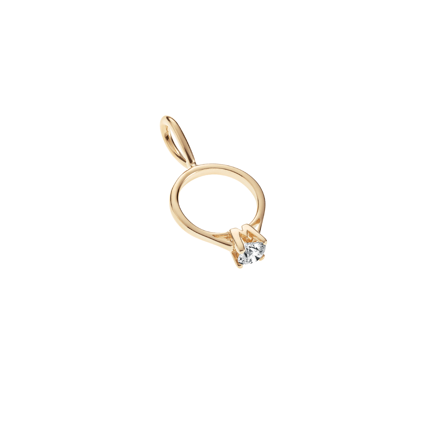 Engagement Ring Charm in Yellow Gold, Product Image 4