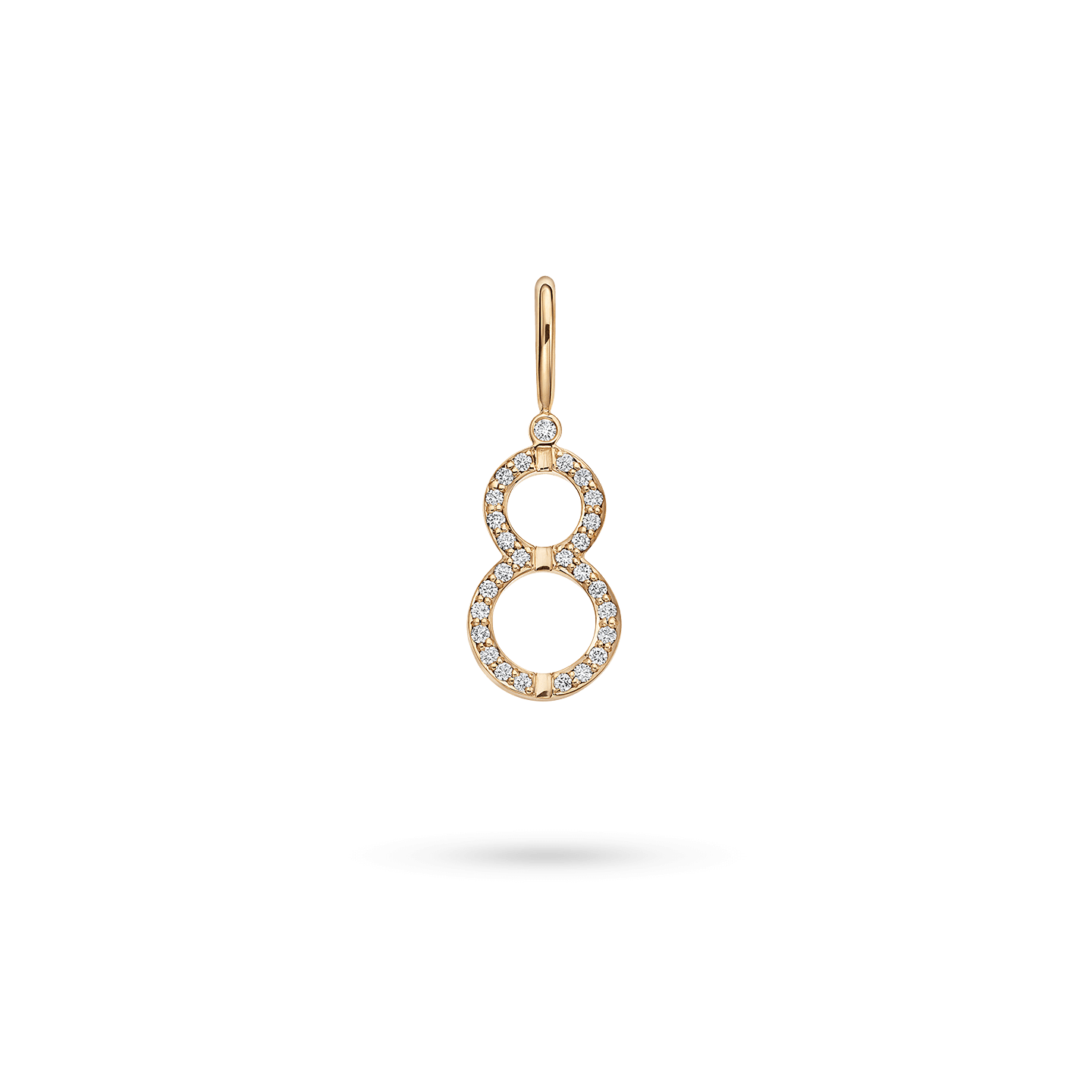 Harry Winston Lucky Eight Charm in Yellow Gold, Product Image 1