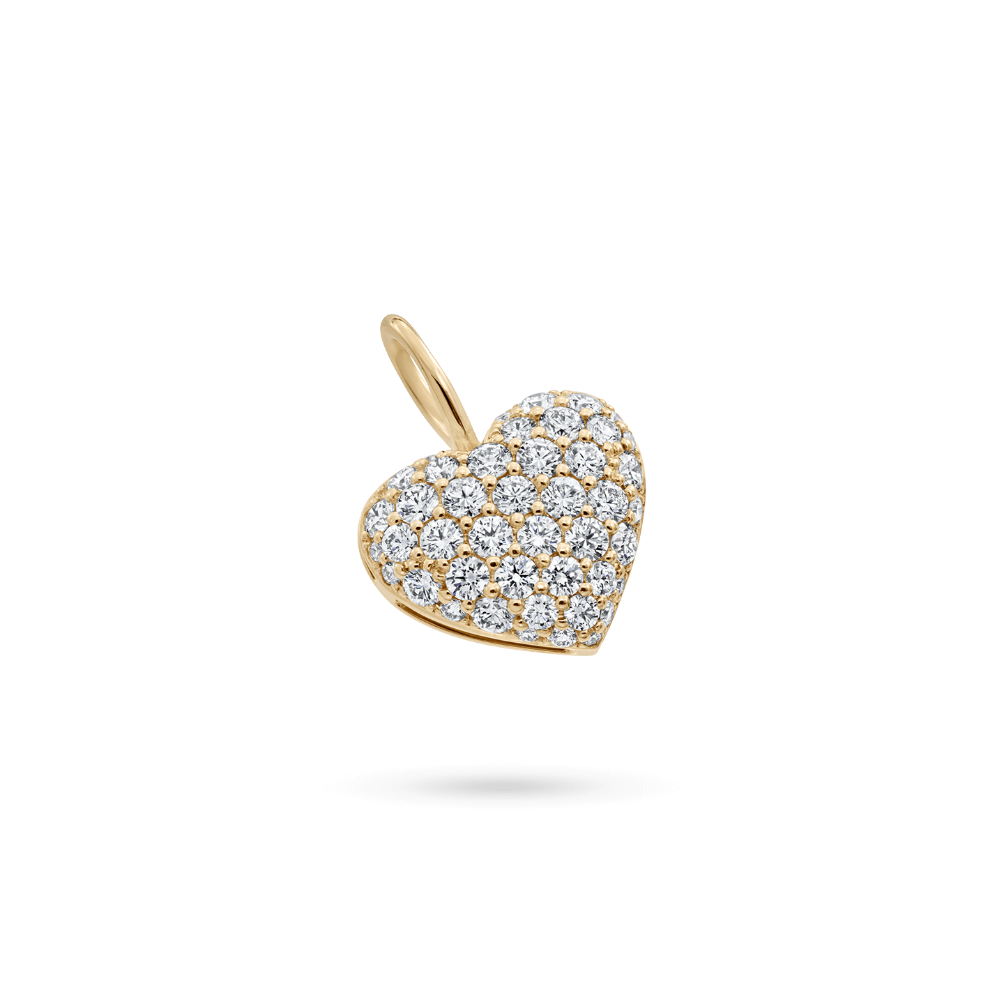 Pavé Heart Charm in Yellow Gold, Product Image 1