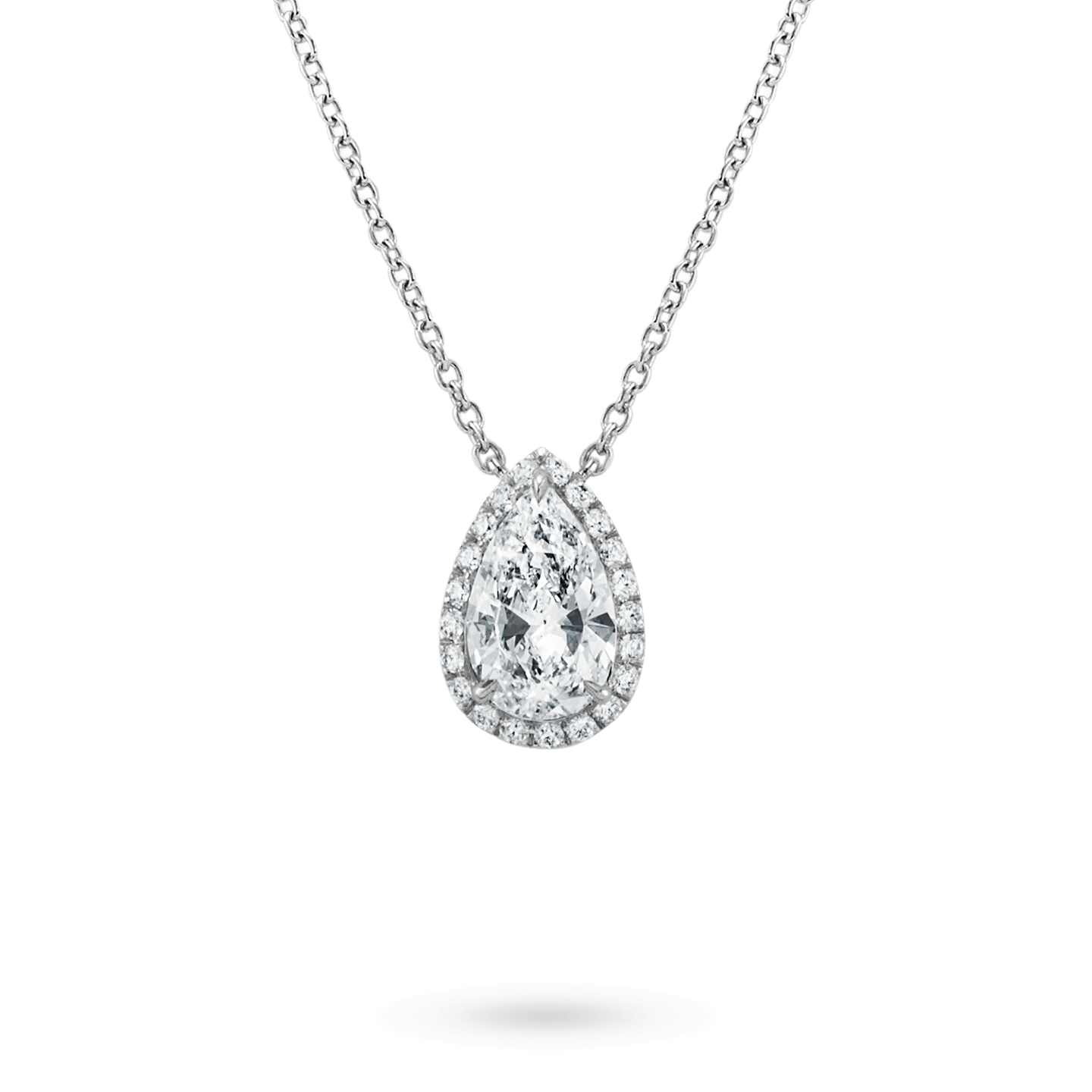 Pear-Shaped Diamond Micropavé Pendant, Product Image 1