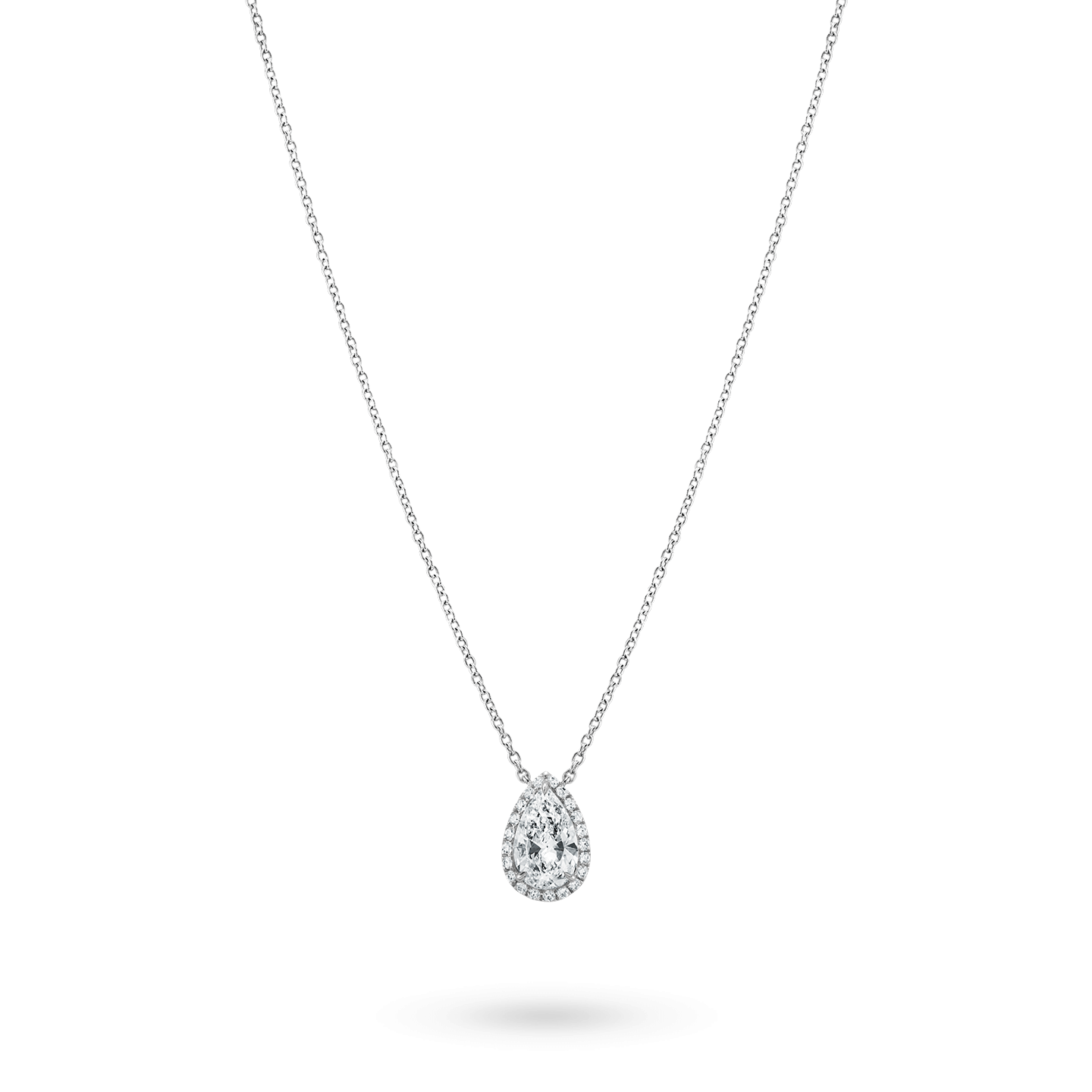 Pear-Shaped Diamond Micropavé Pendant, Product Image 2