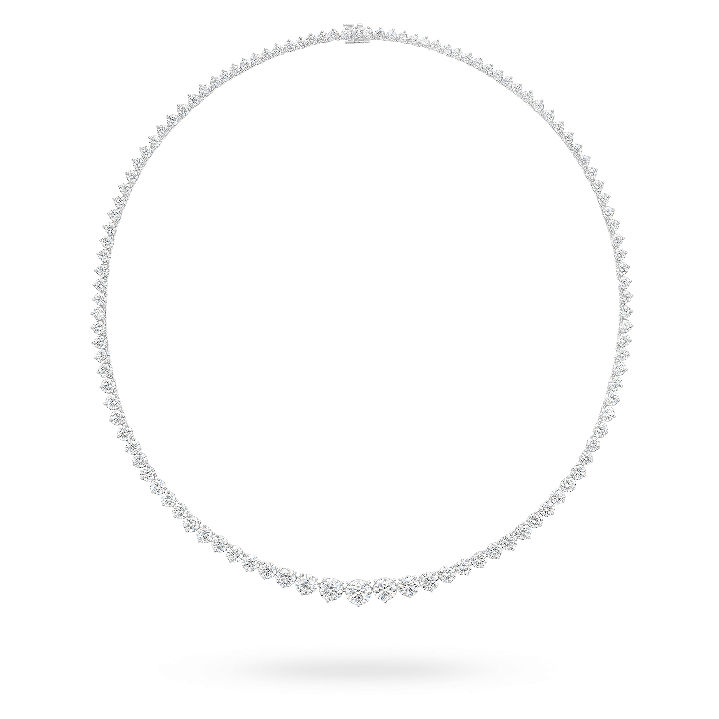 Round Brilliant Riviere Diamond Necklace, Product Image 1