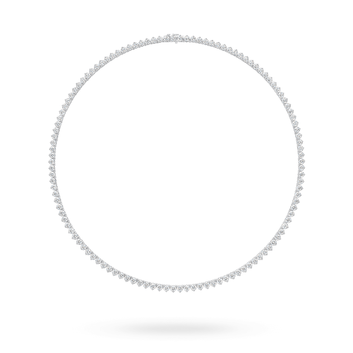 Round Brilliant Straightline Diamond Necklace, Product Image 1