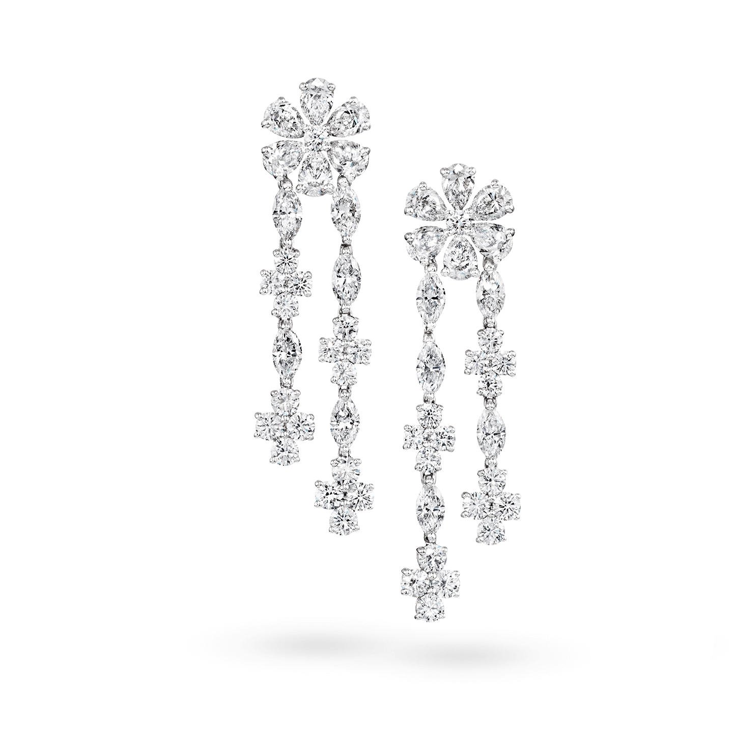 Forget-Me-Not Diamond Drop Earrings, Product Image 1