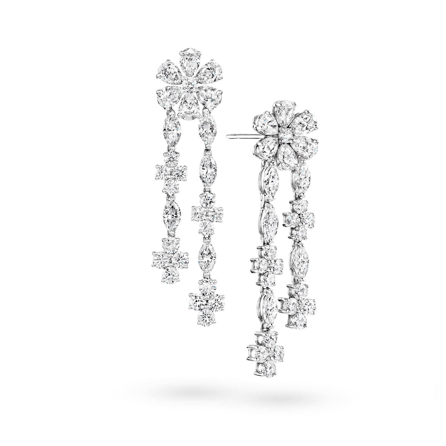 Forget-Me-Not Diamond Drop Earrings, Product Image 2