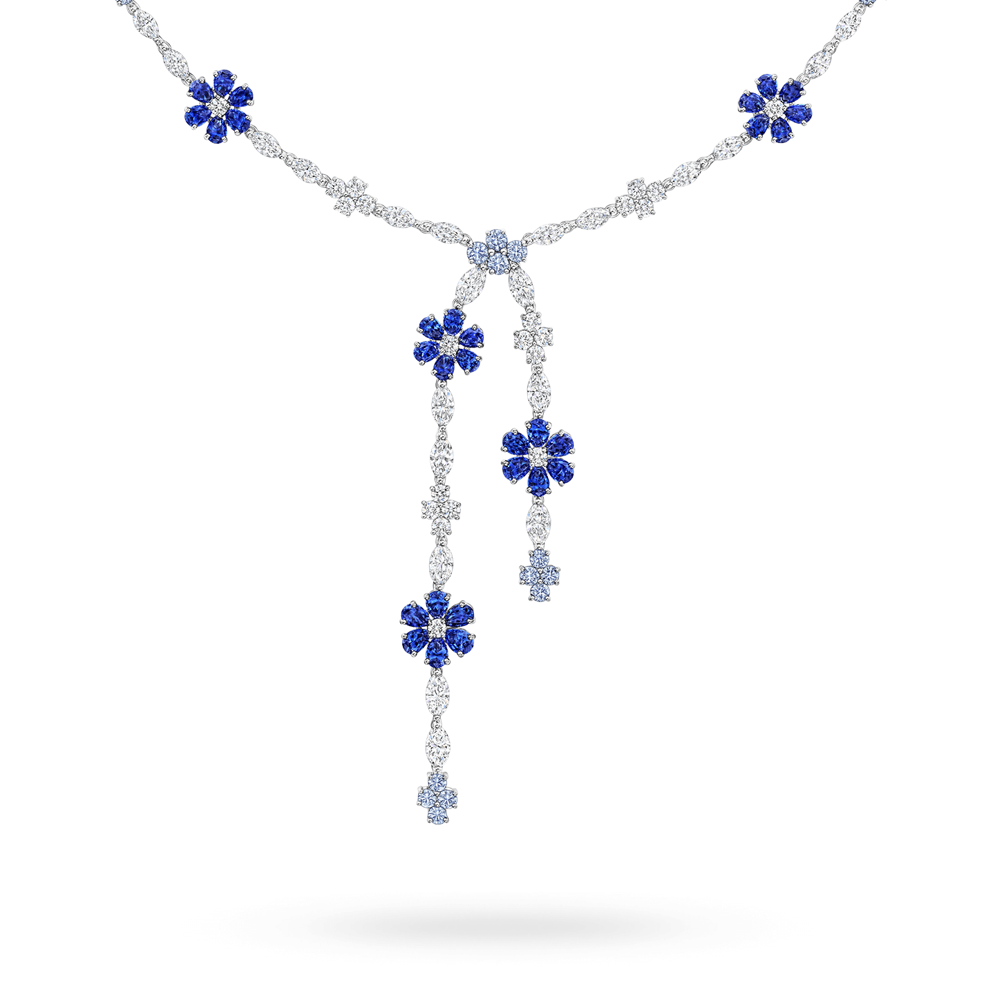 Forget-Me-Not Lariat Sapphire and Diamond Necklace, Product Image 2