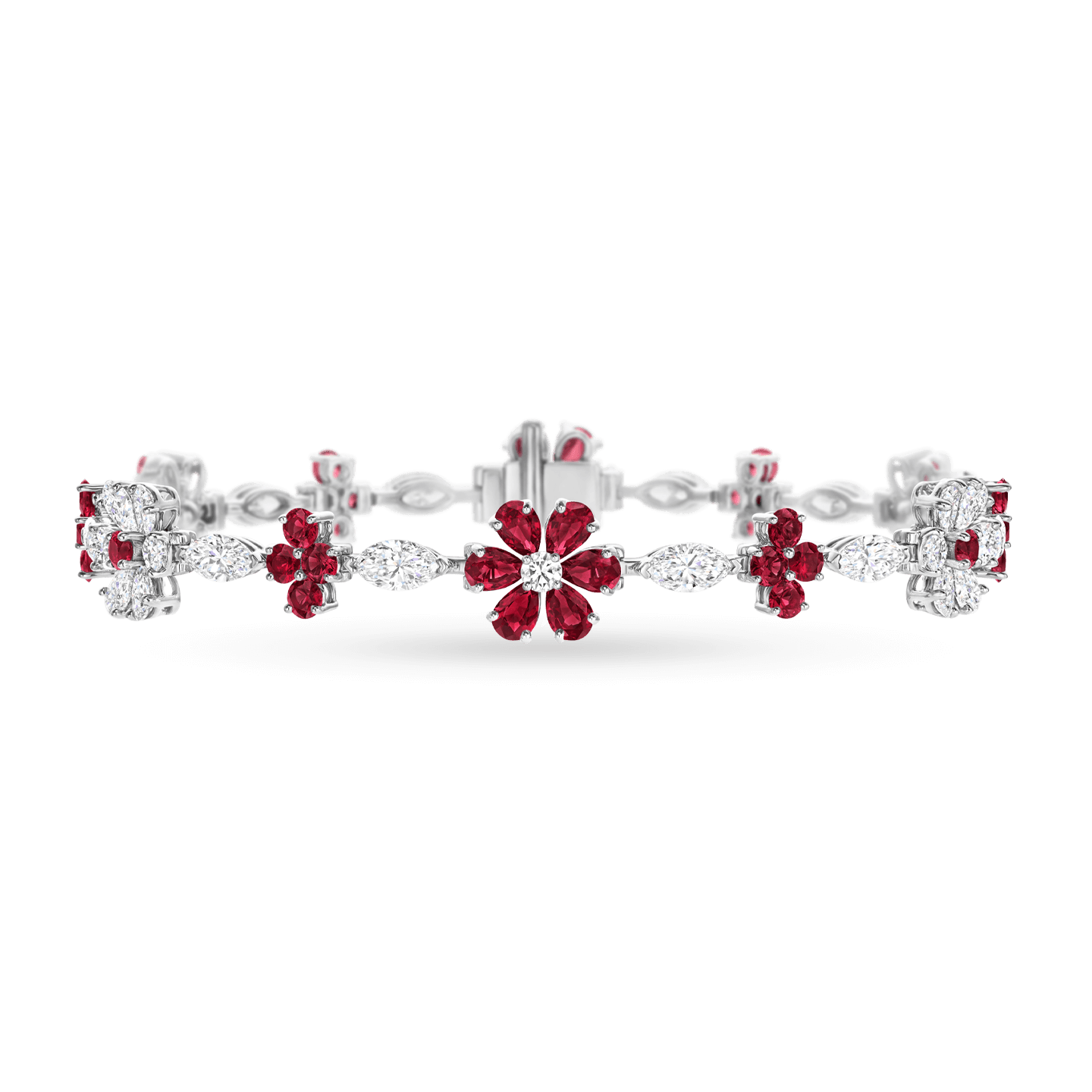 Forget-Me-Not Ruby and Diamond Bracelet, Product Image 1