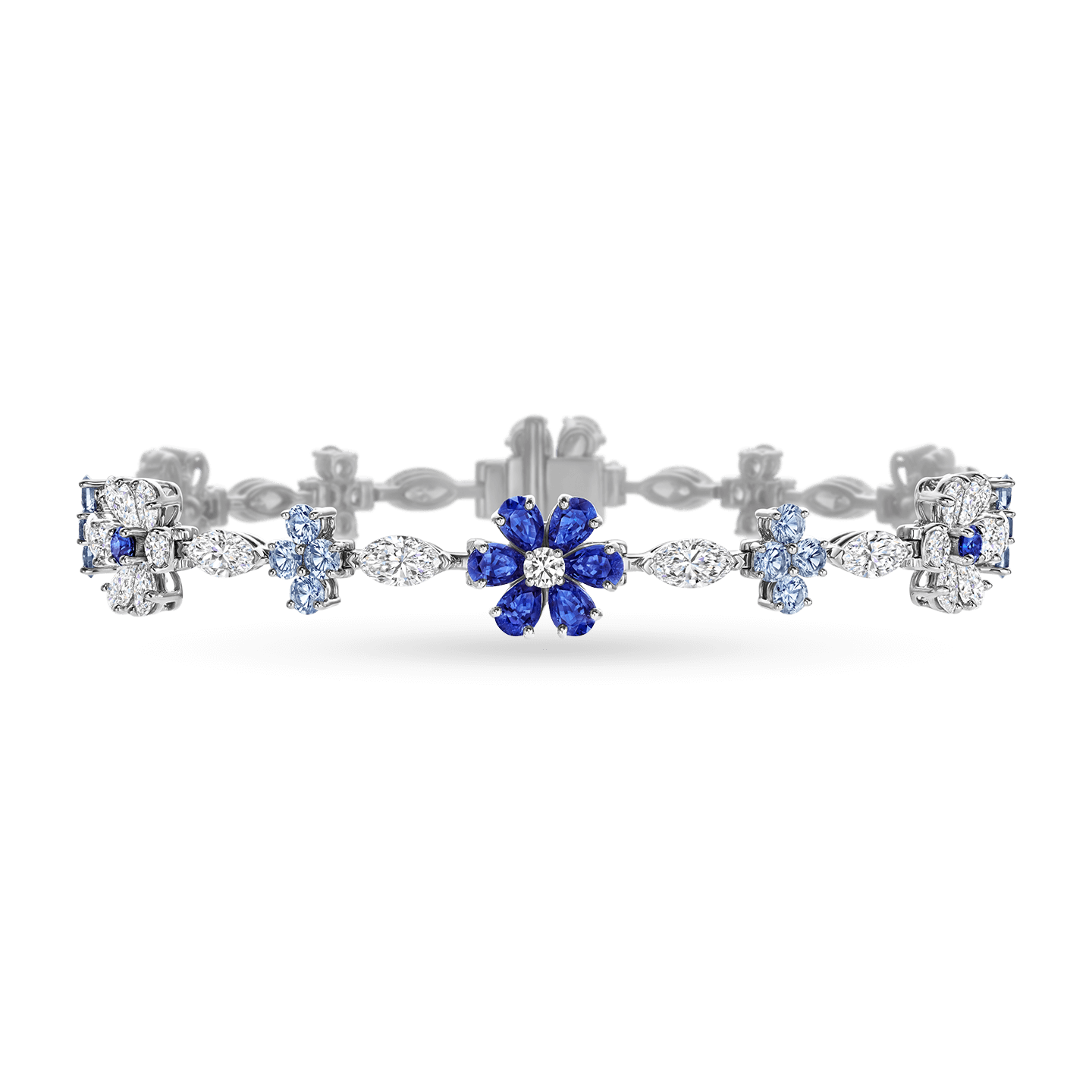 Forget-Me-Not Sapphire and Diamond Bracelet, Product Image 1