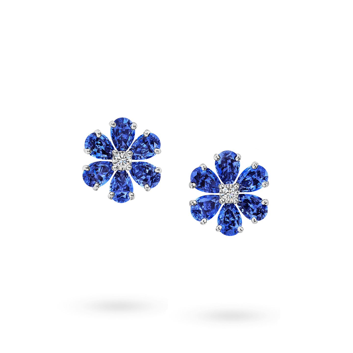 Forget-Me-Not Sapphire and Diamond Earrings, Product Image 1