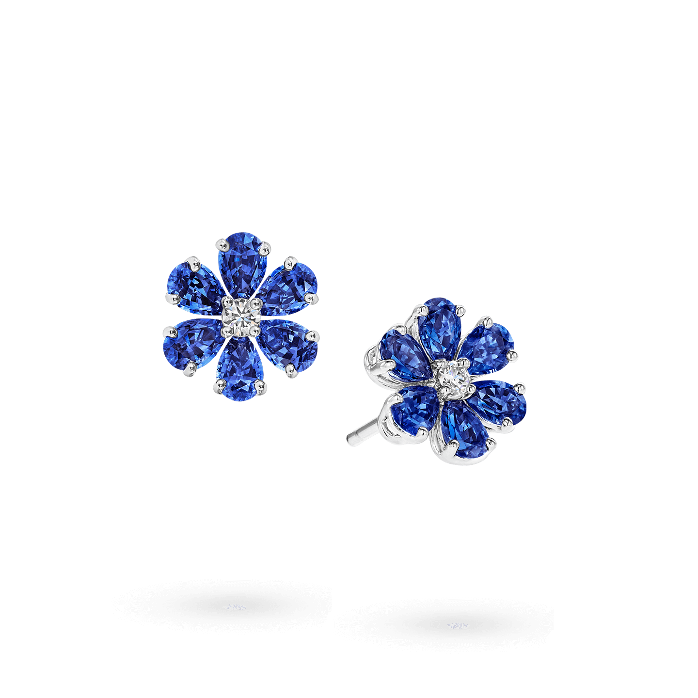 Forget-Me-Not Sapphire and Diamond Earrings, Product Image 2