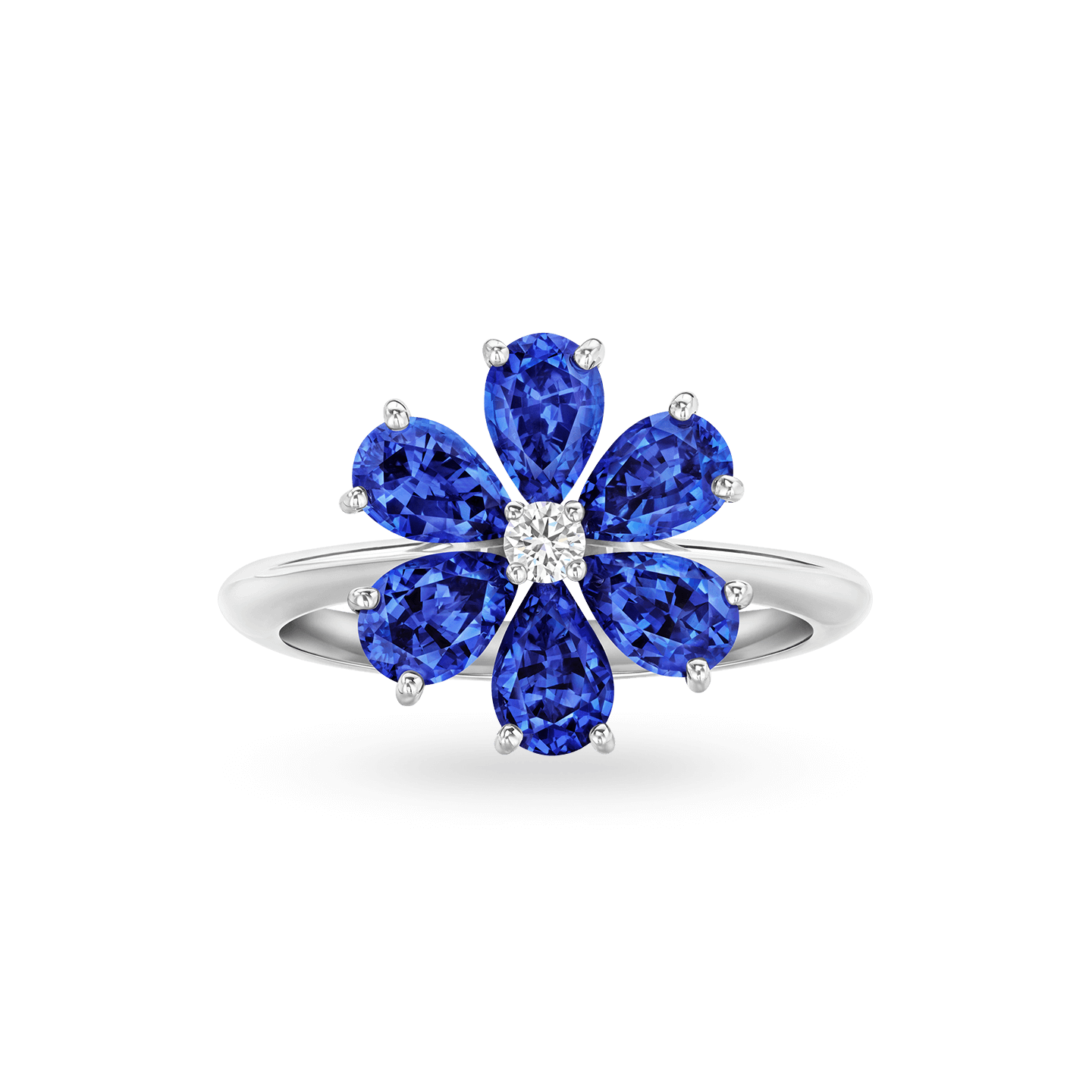 Forget-Me-Not Sapphire and Diamond Ring, Product Image 1