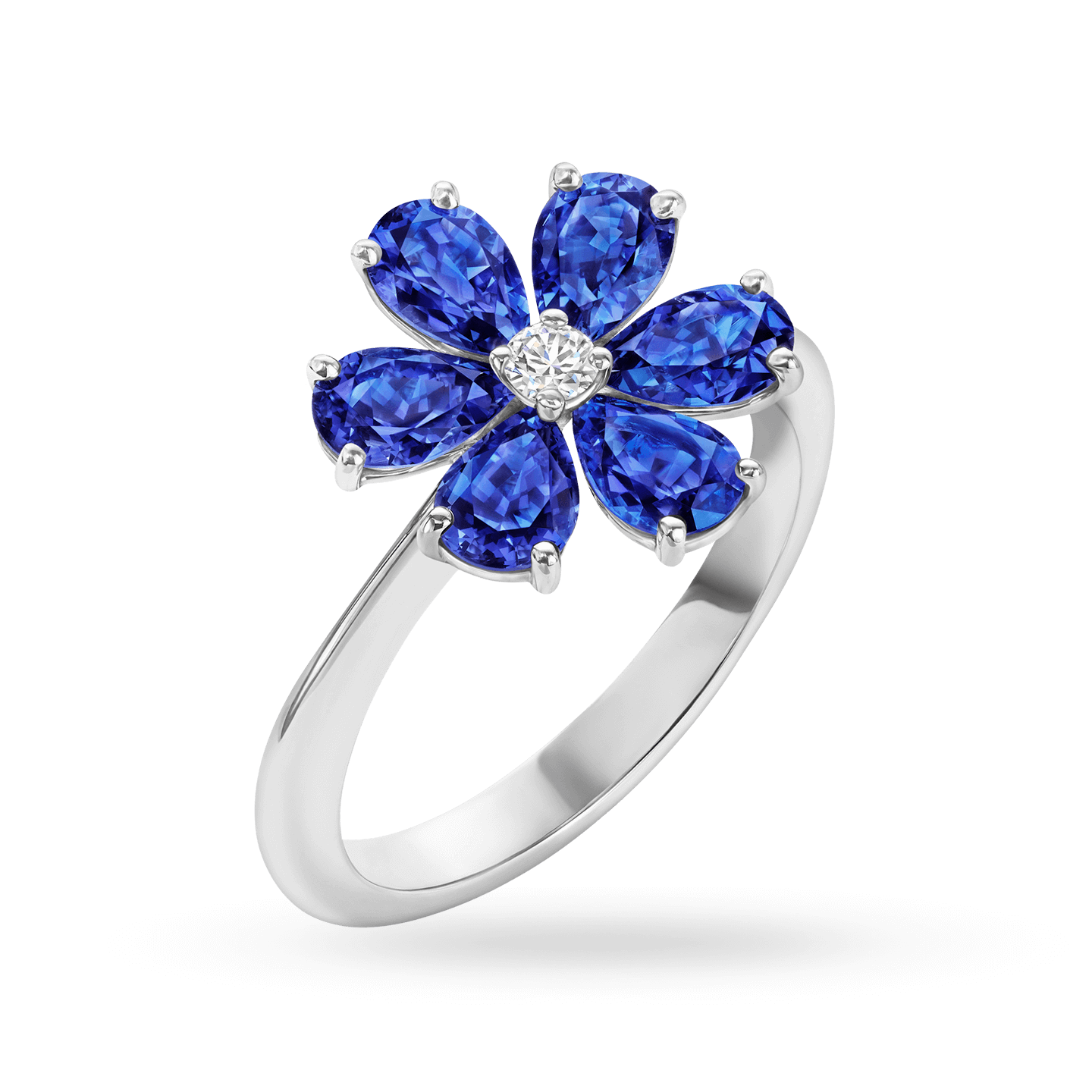 Forget-Me-Not Sapphire and Diamond Ring, Product Image 2
