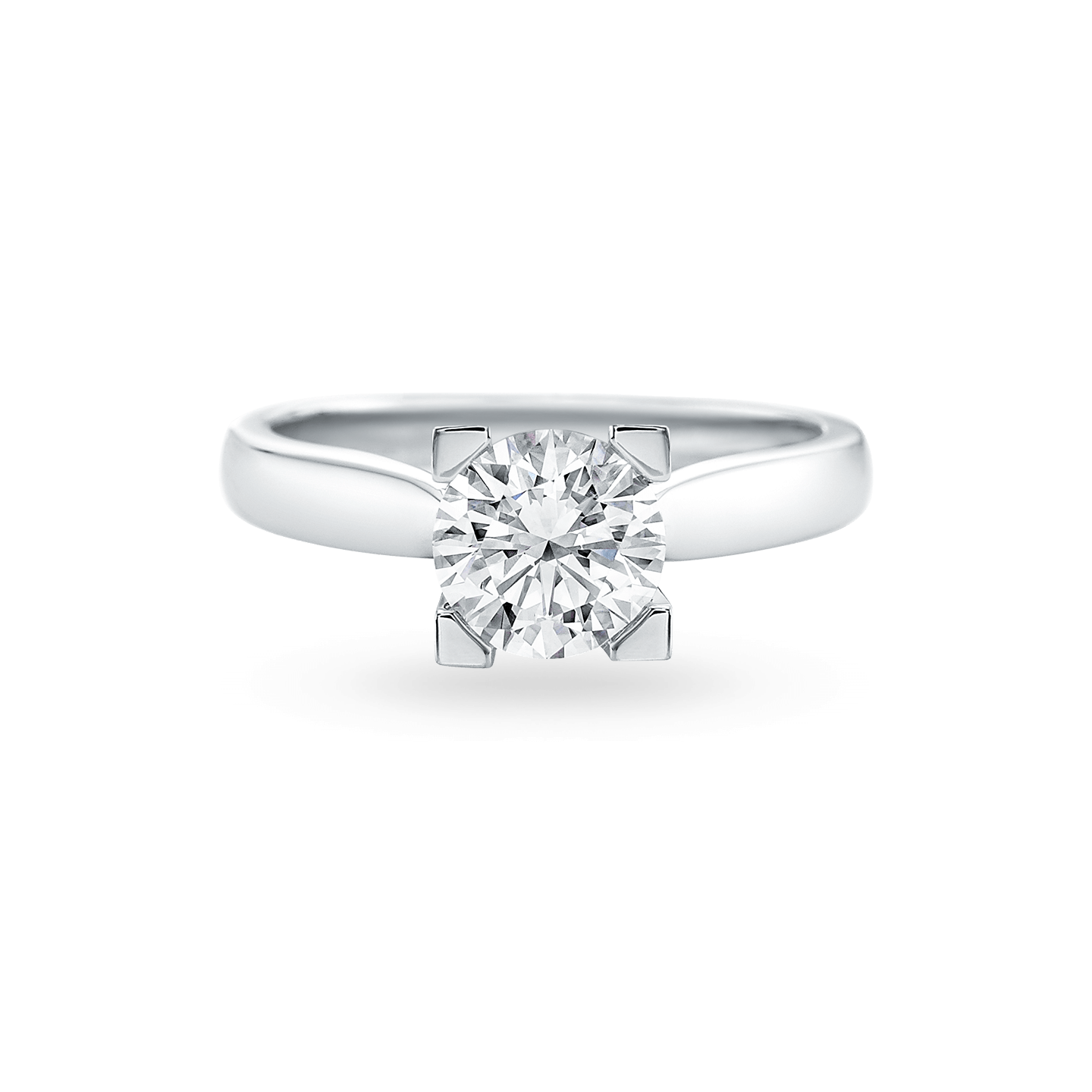 HW Logo Round Brilliant Diamond Micropavé Engagement Ring, Product Image 1