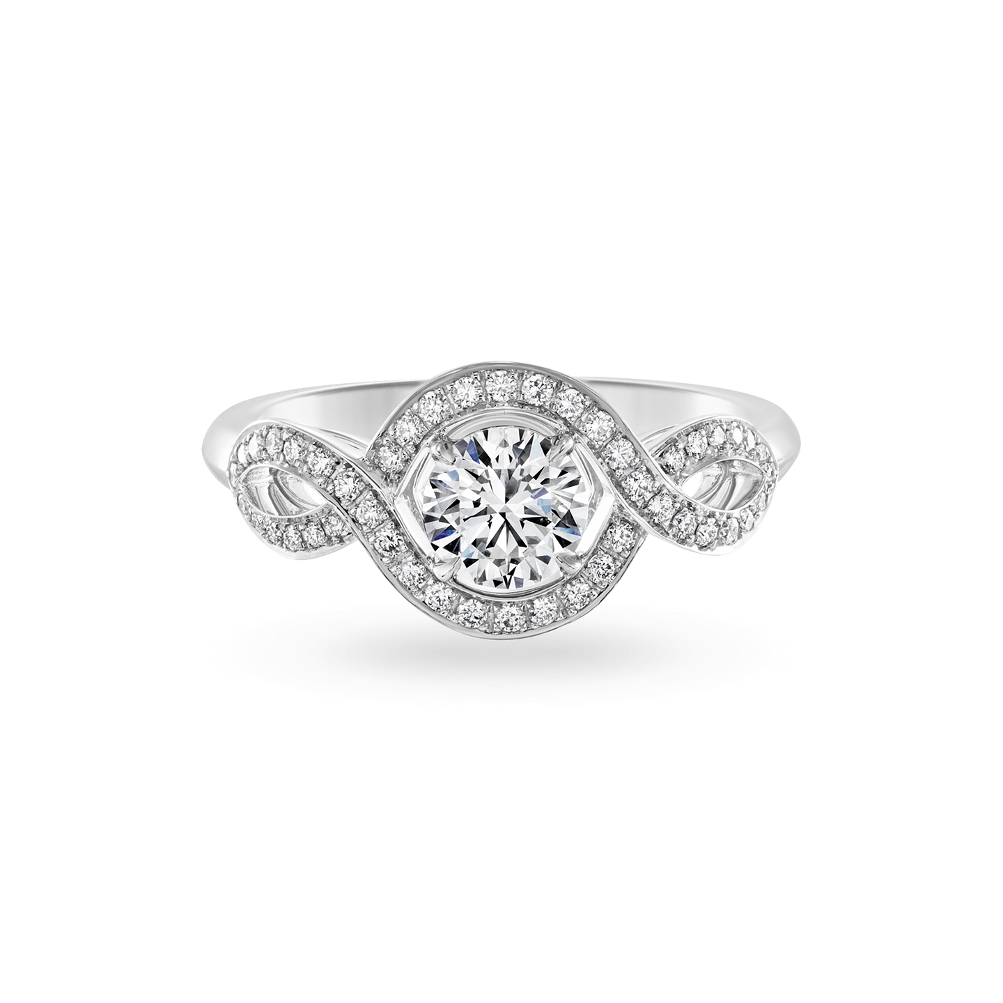 Lily Cluster Round Brilliant Diamond Engagement Ring, Product Image 1