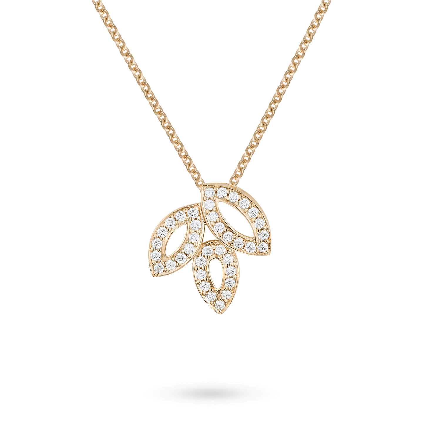 Lily Cluster Small Diamond Pendant in Yellow Gold, Product Image 1