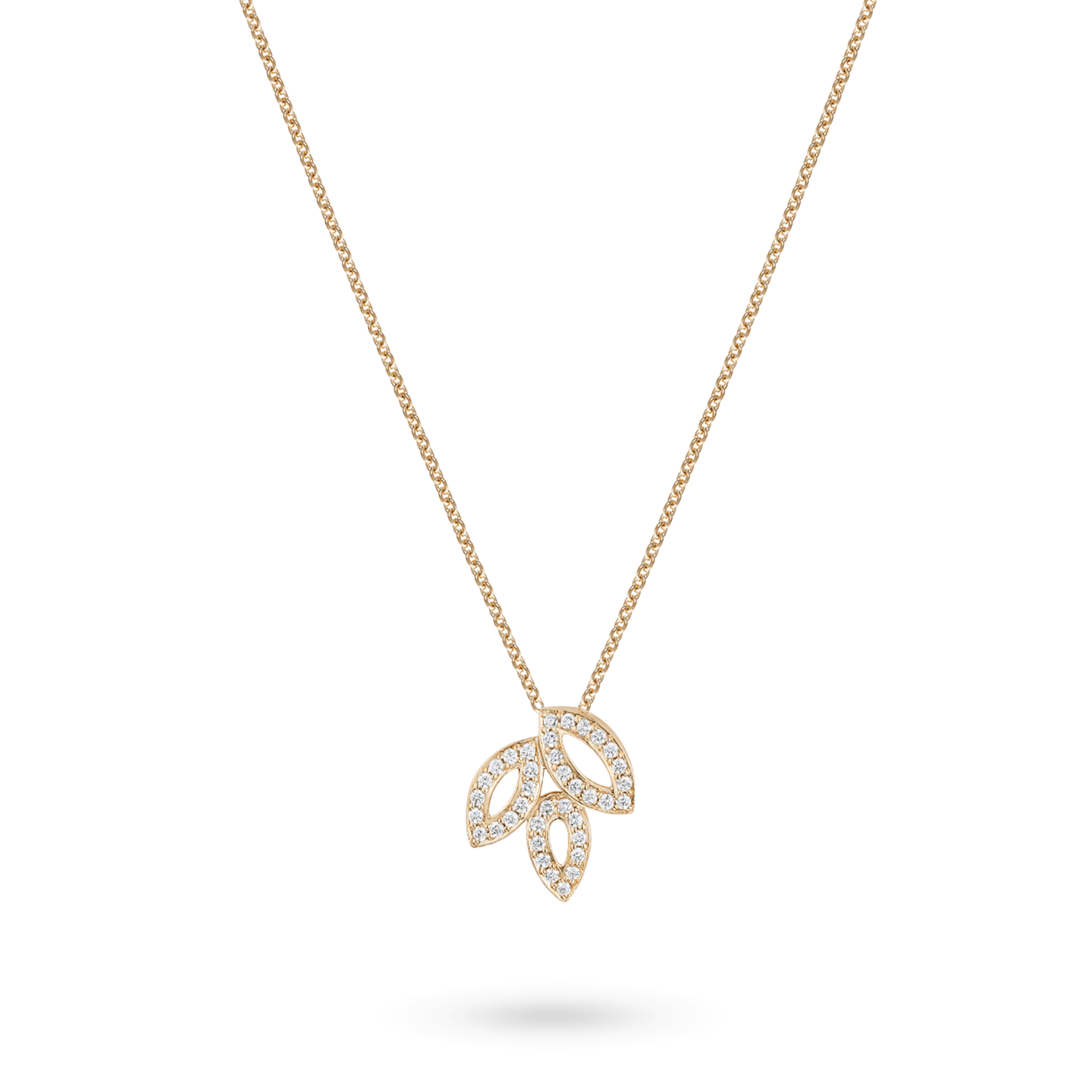 Lily Cluster Small Diamond Pendant in Yellow Gold, Product Image 2