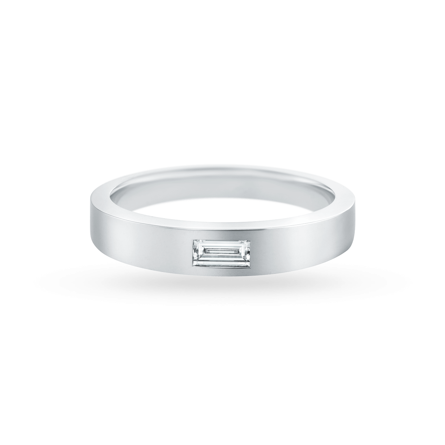 Baguette-Cut Single Diamond Wedding Band, Product Image 2