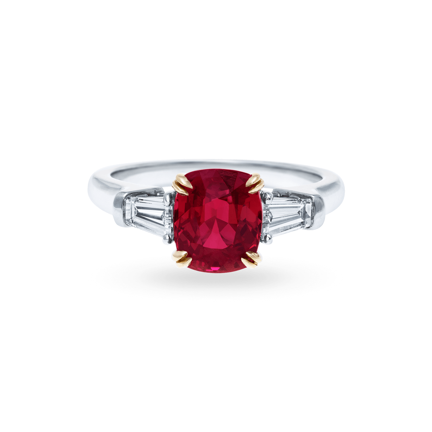 Classic Winston Cushion-Cut Ruby Ring, Product Image 1