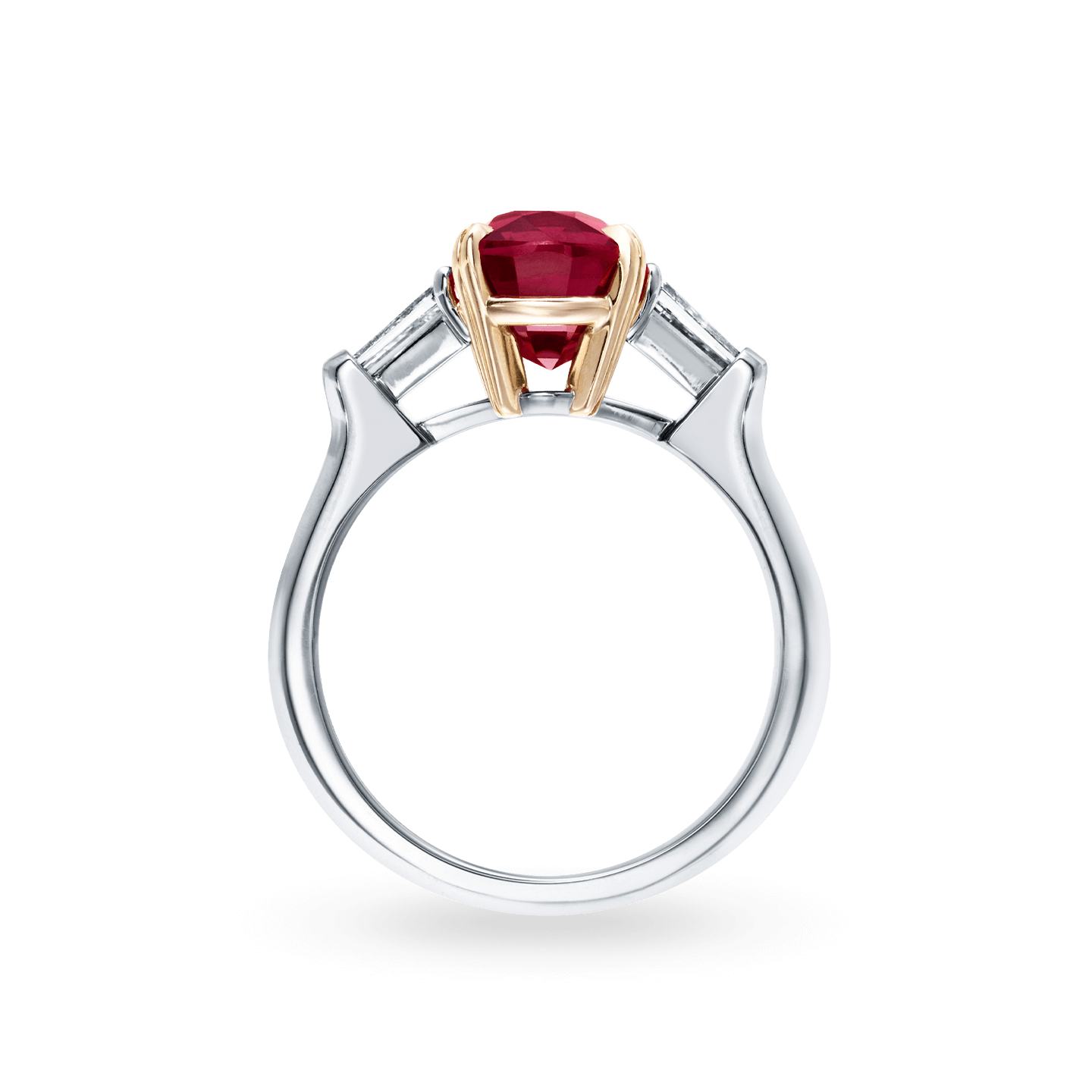 Classic Winston Cushion-Cut Ruby Ring, Product Image 2
