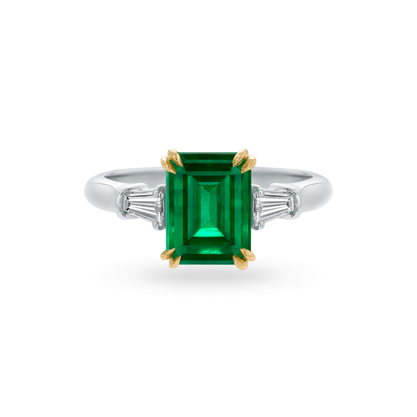 Classic Winston Emerald-Cut Emerald Ring, Product Image 1