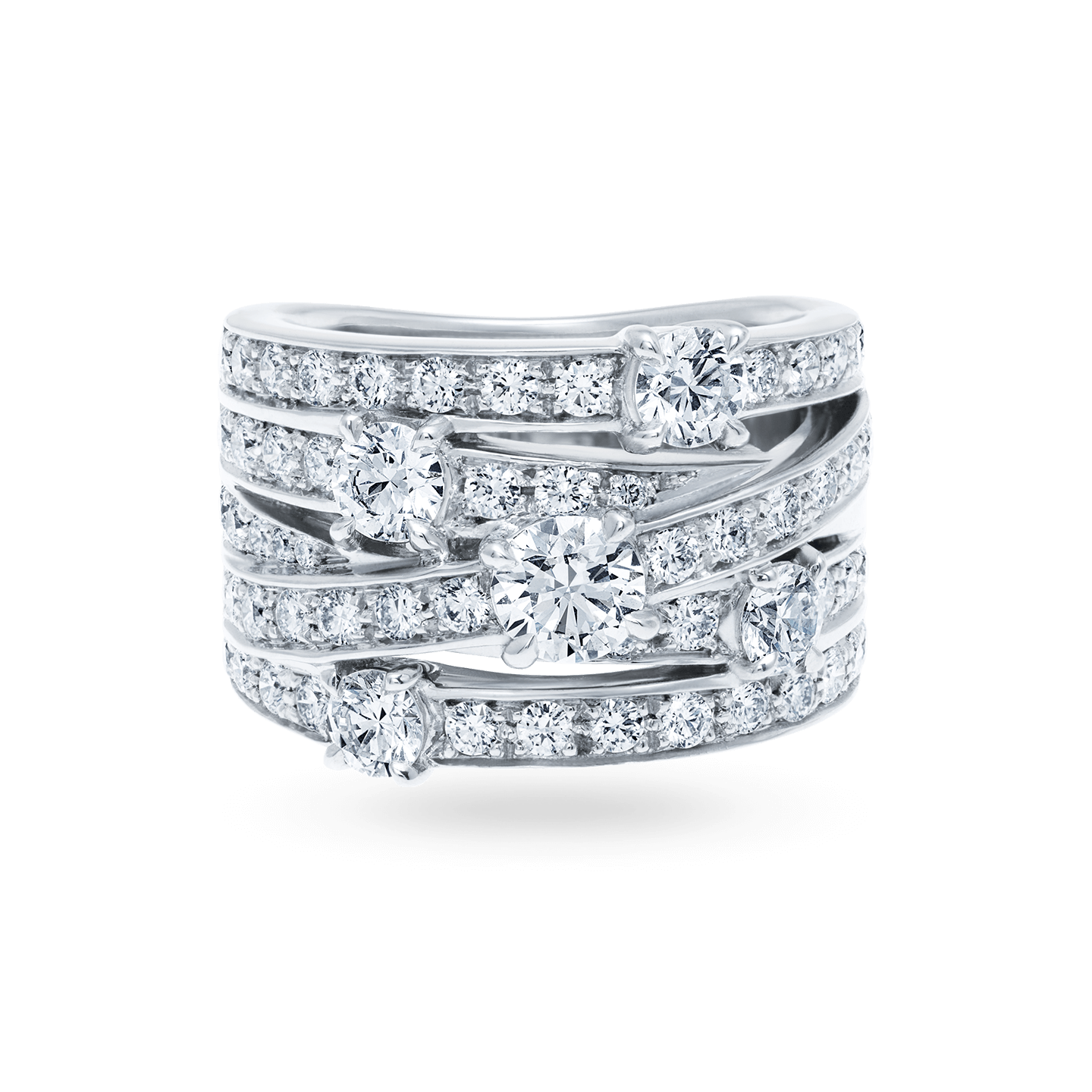 Crossover Diamond Ring, Product Image 1