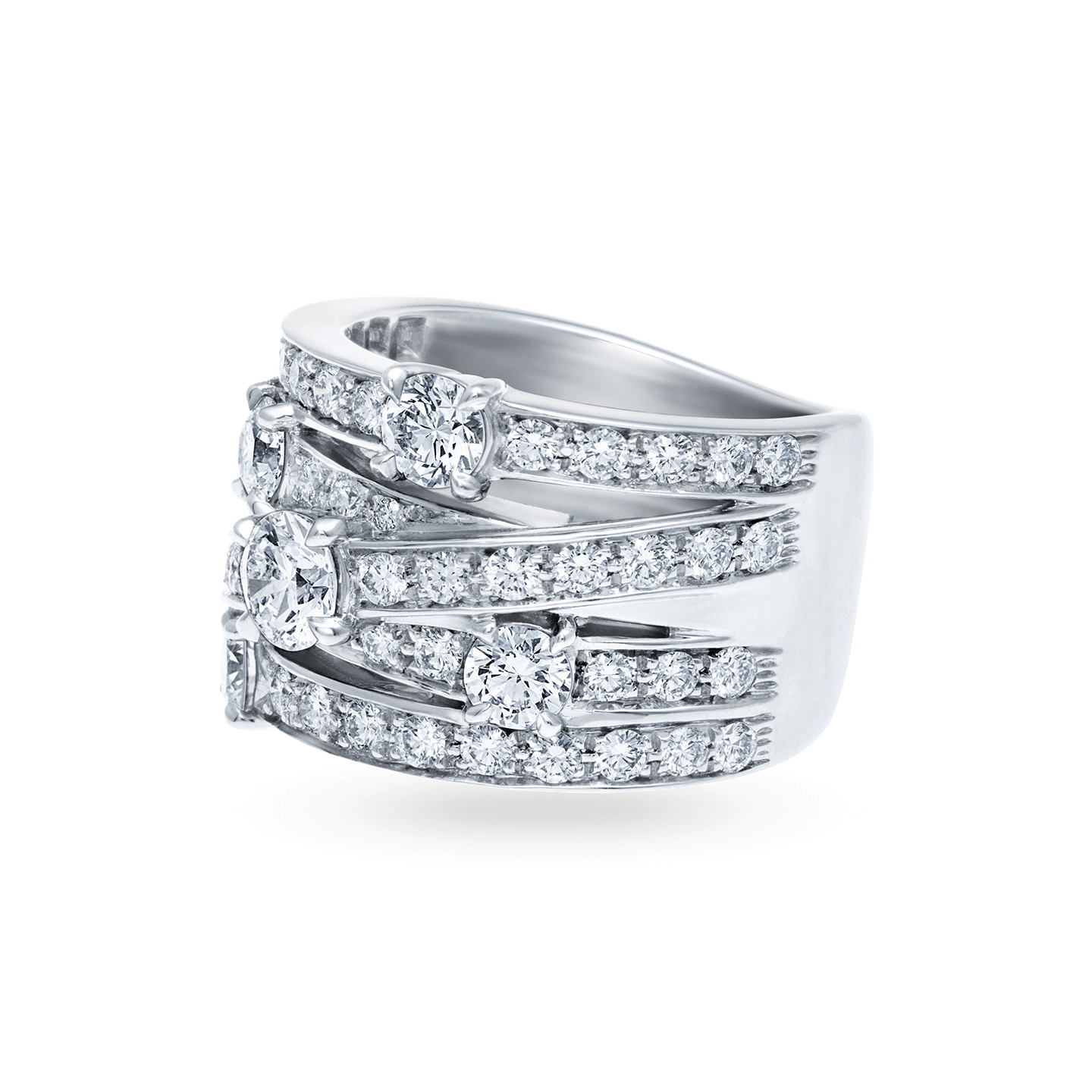 Crossover Diamond Ring, Product Image 2