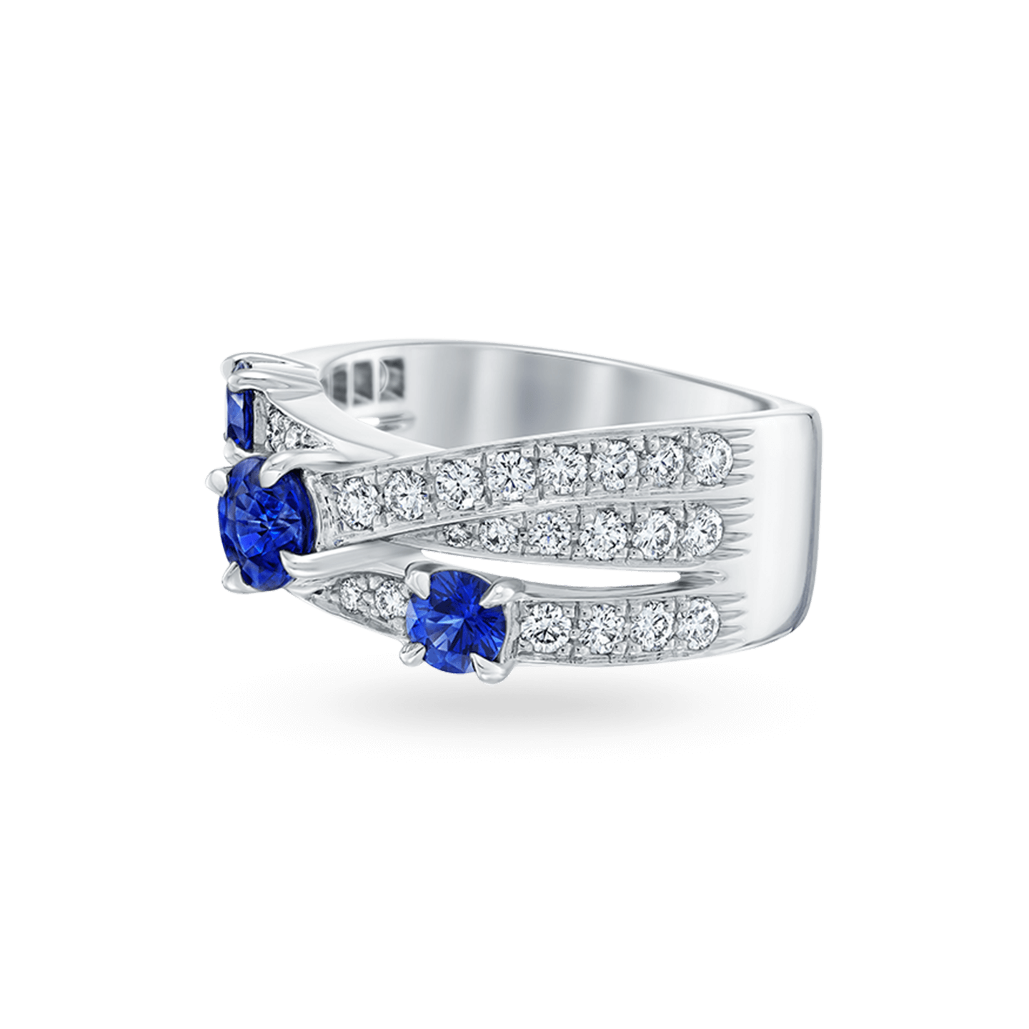 Crossover Sapphire 3-Row Ring, Product Image 2