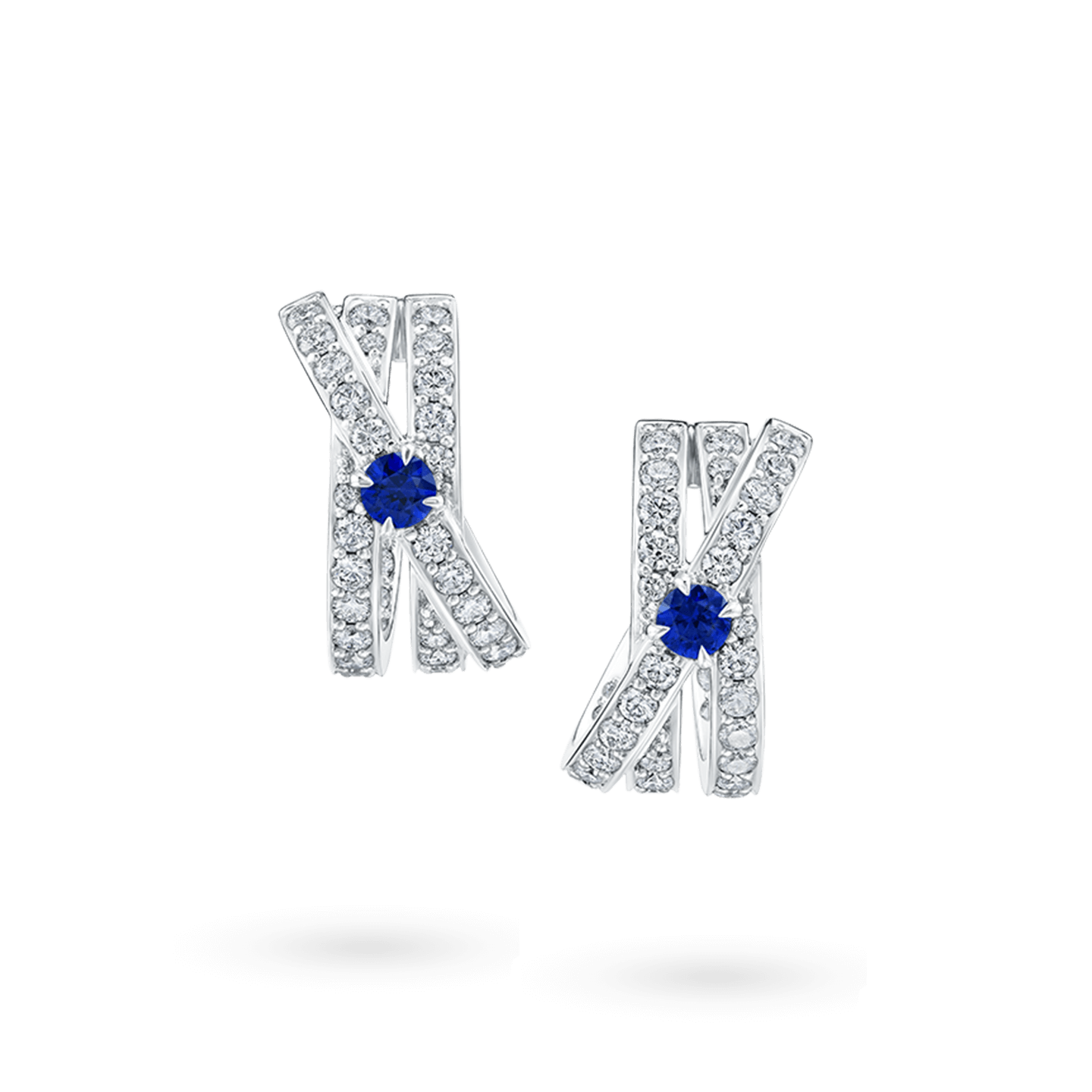 Crossover Sapphire Earrings, Product Image 1
