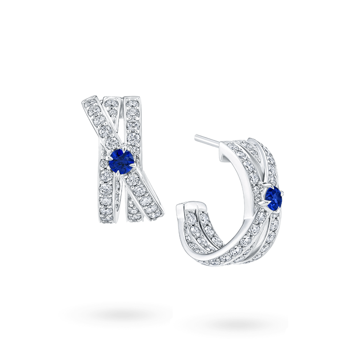 CrossoverSapphire Earrings, Product Image 2