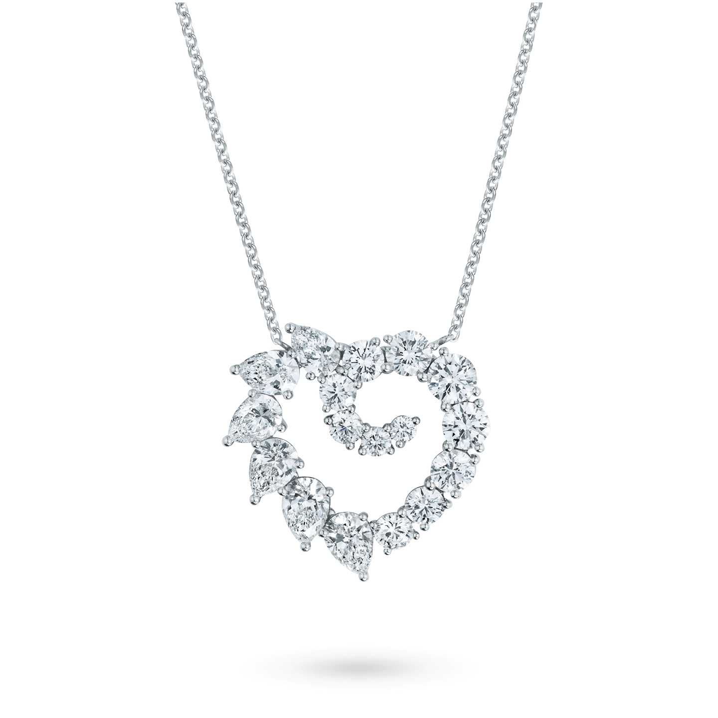 Garland Large Heart Diamond Pendant, Product Image 1