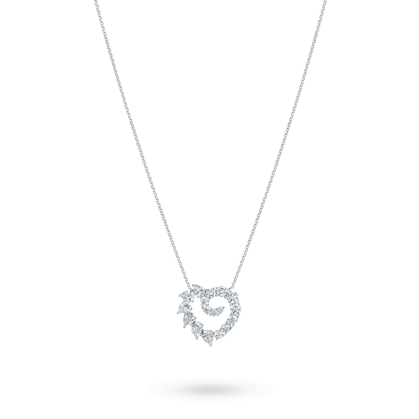 Garland Large Heart Diamond Pendant, Product Image 2