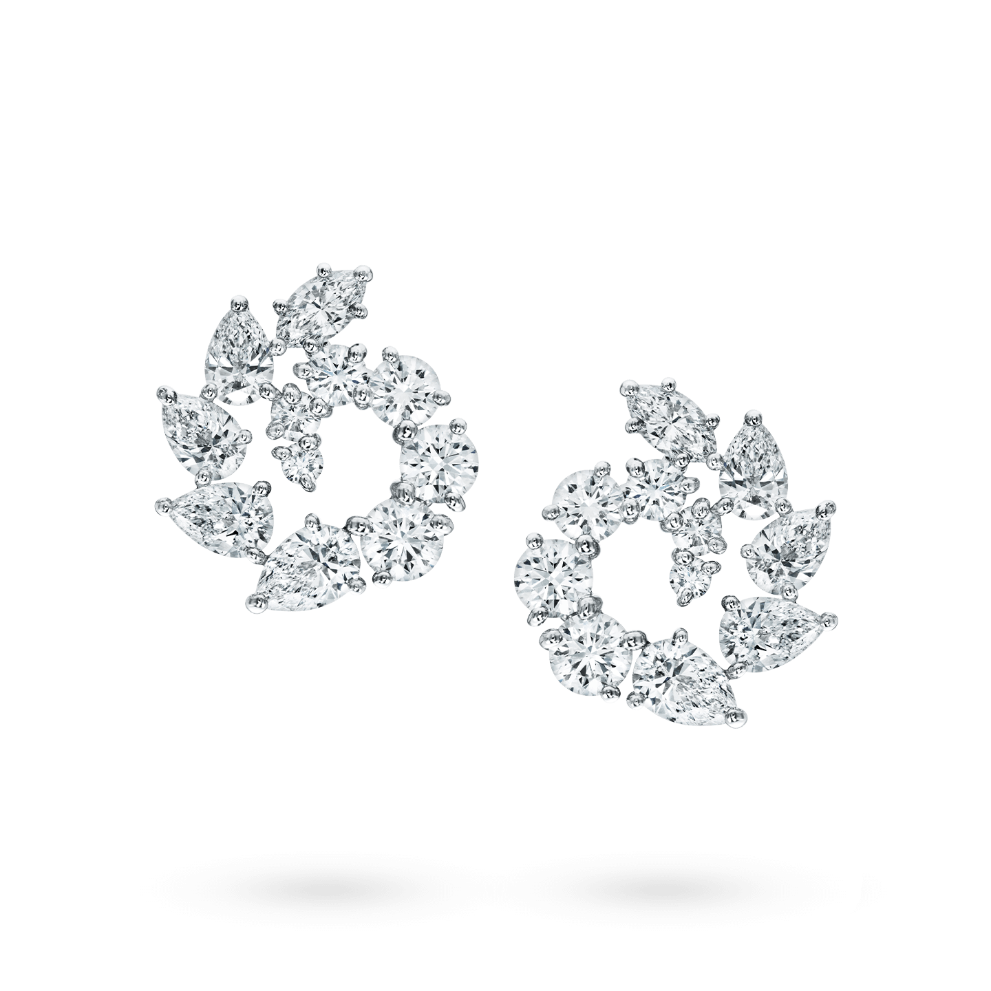 Open Cluster Large Diamond Earrings, Product Image 1