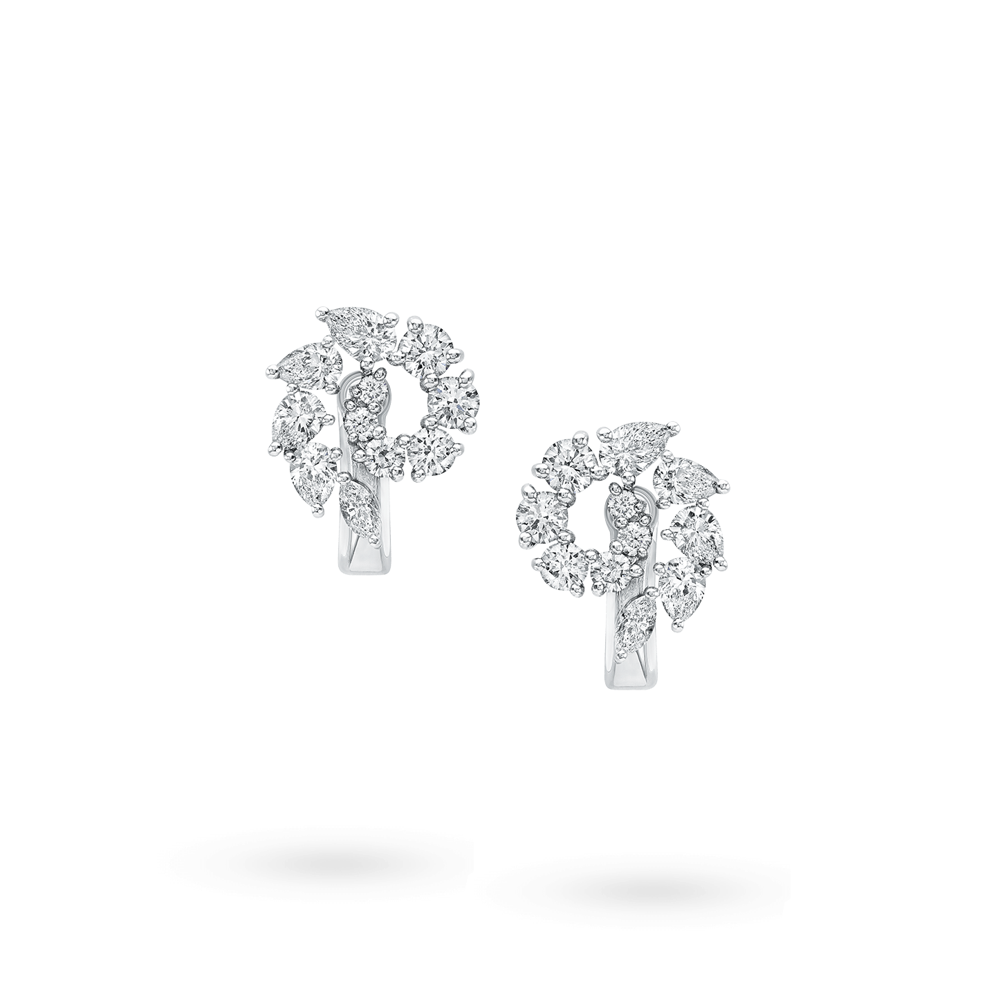 Open ClusterSmall Diamond Earrings, Product Image 1