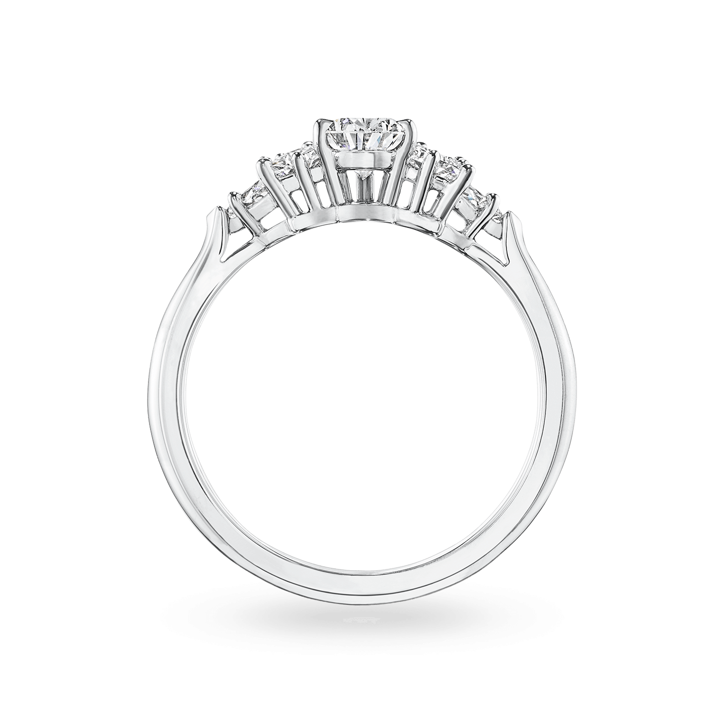 Pear-Shaped Cluster Diamond Engagement Ring, Product Image 2