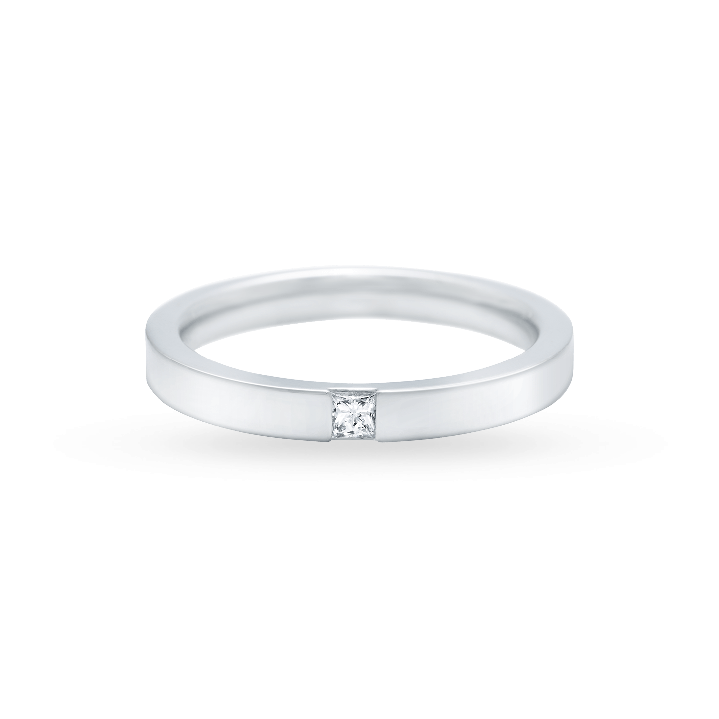 Princess-Cut Single Diamond Wedding Band, Product Image 2