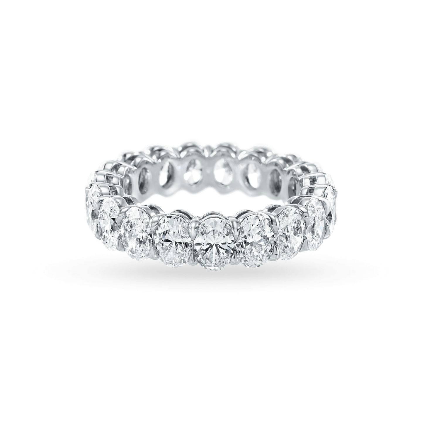 Prong-Set Oval-Shaped Diamond Wedding Band, Product Image 2