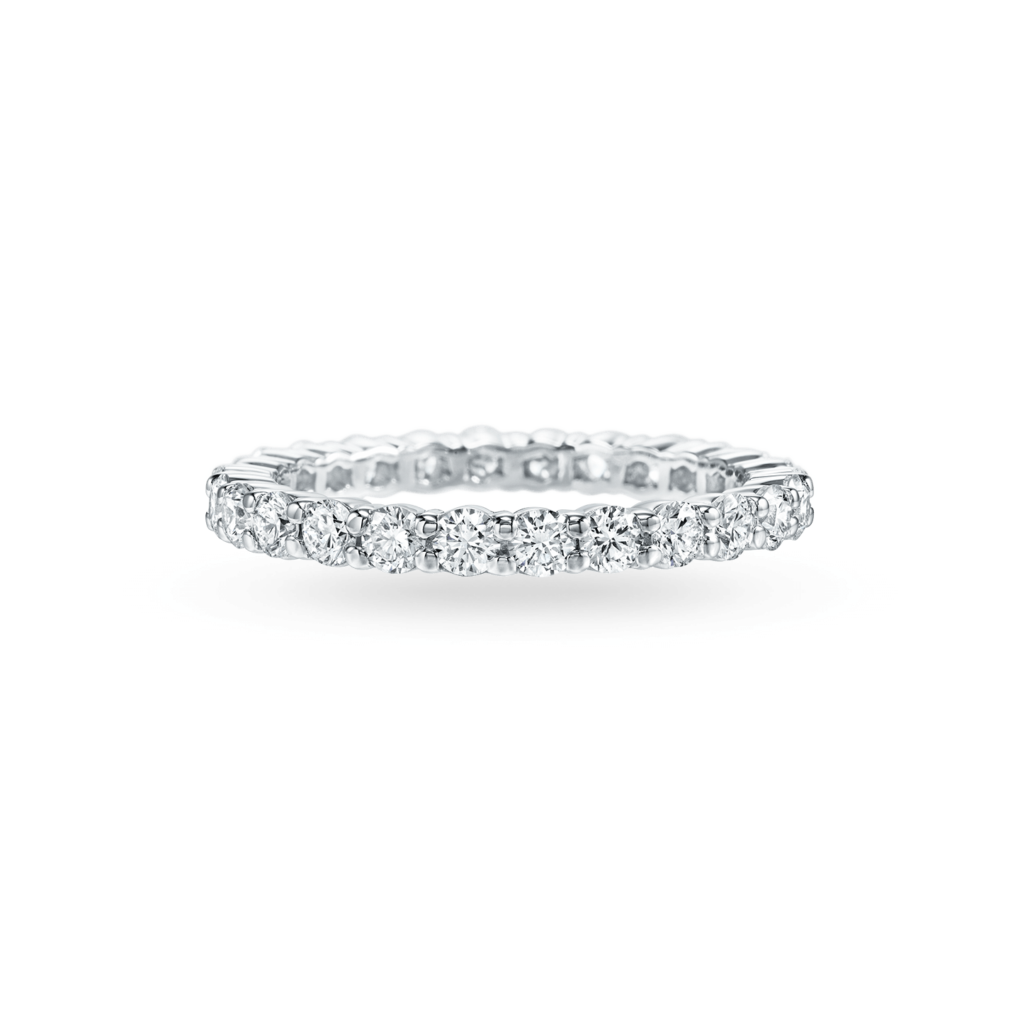 Prong-Set Round Brilliant Diamond Wedding Band, Product Image 1