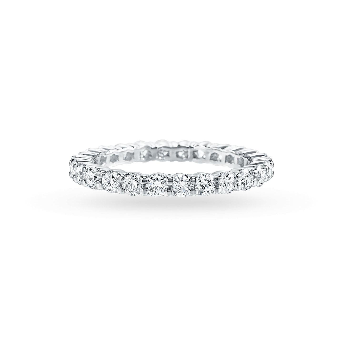 Prong-Set Round Brilliant Diamond Wedding Band, Product Image 2