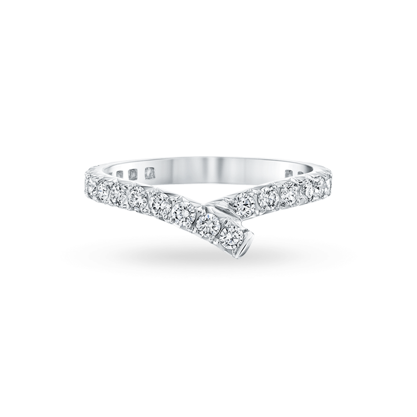 Ribbon Diamond Wedding Band, Product Image 1