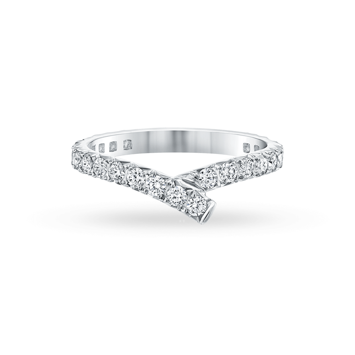 Ribbon Diamond Wedding Band, Product Image 2