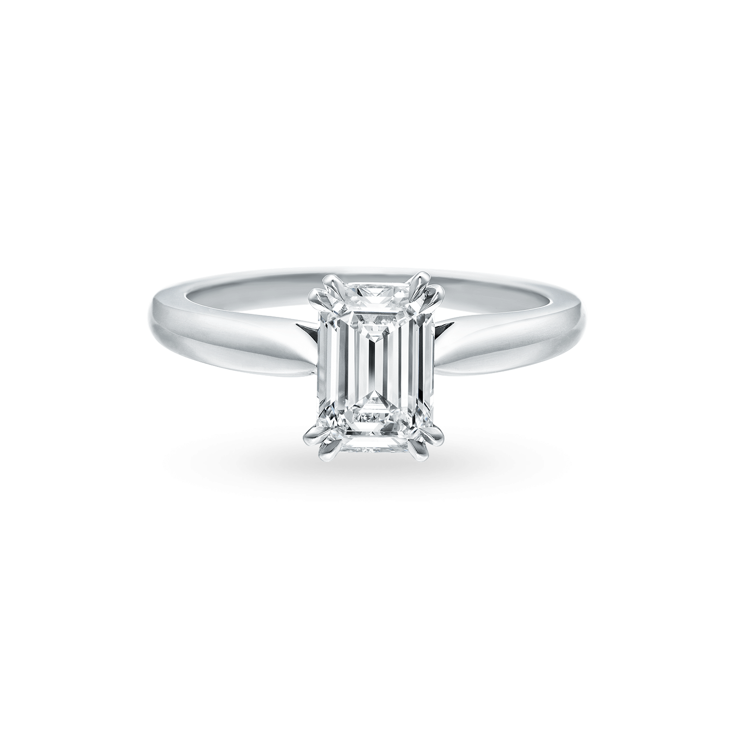 Solitaire Emerald-Cut Engagement Ring, Product Image 1