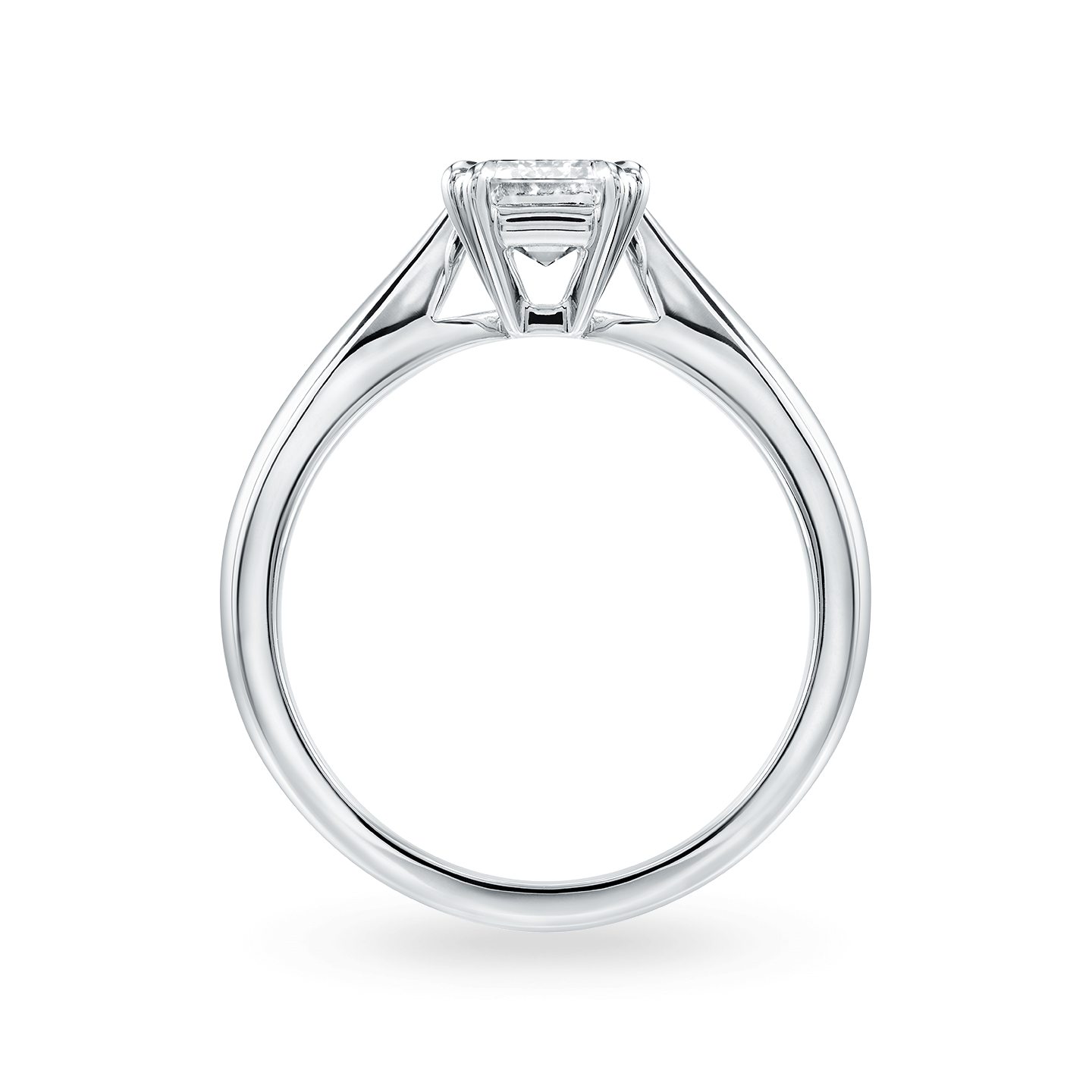 Solitaire Emerald-Cut Engagement Ring, Product Image 2