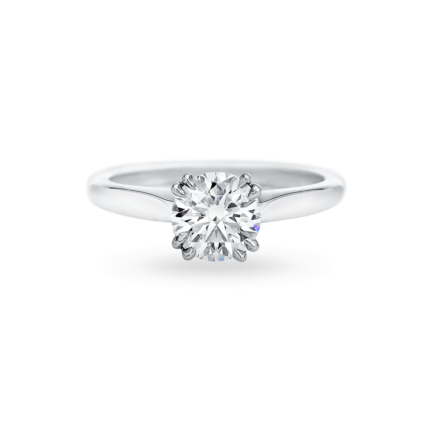 Solitaire Round Brilliant Engagement Ring, Product Image 1