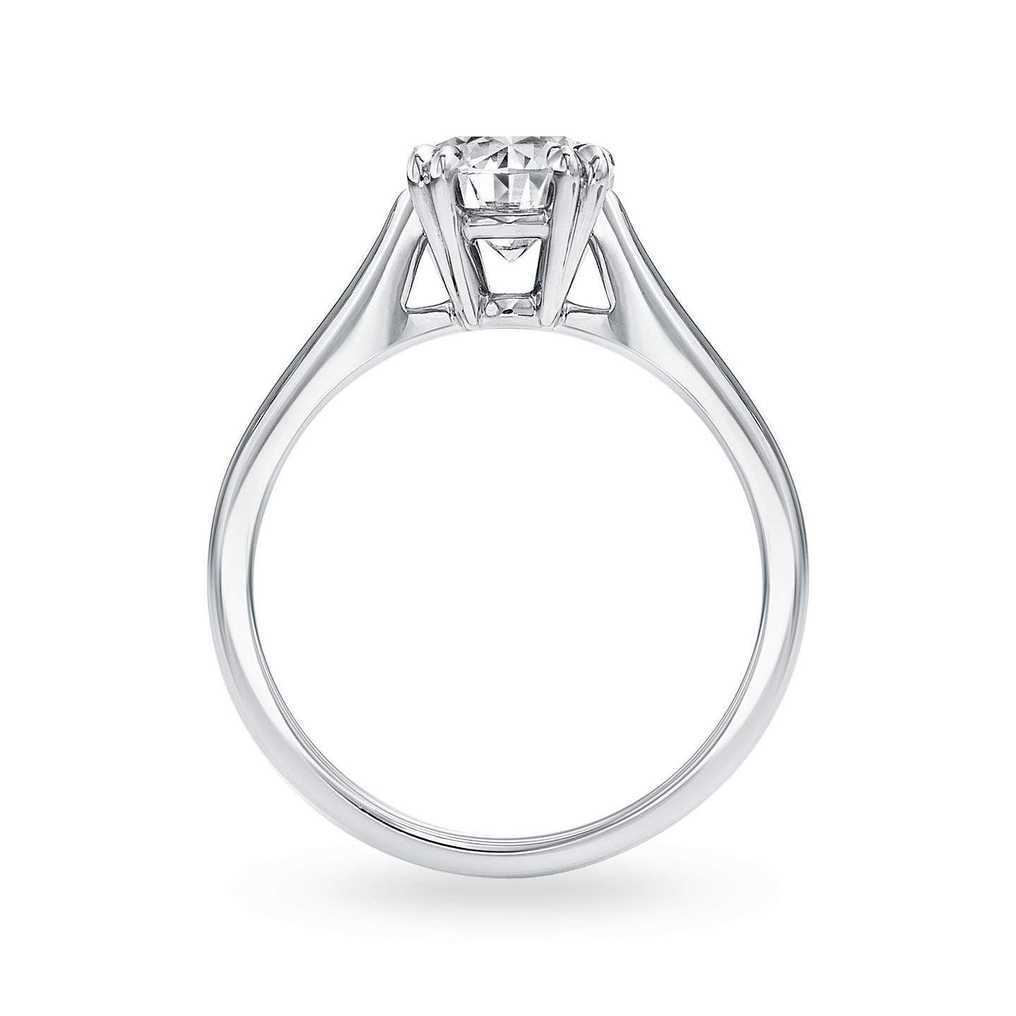 Solitaire Round Brilliant Engagement Ring, Product Image 2